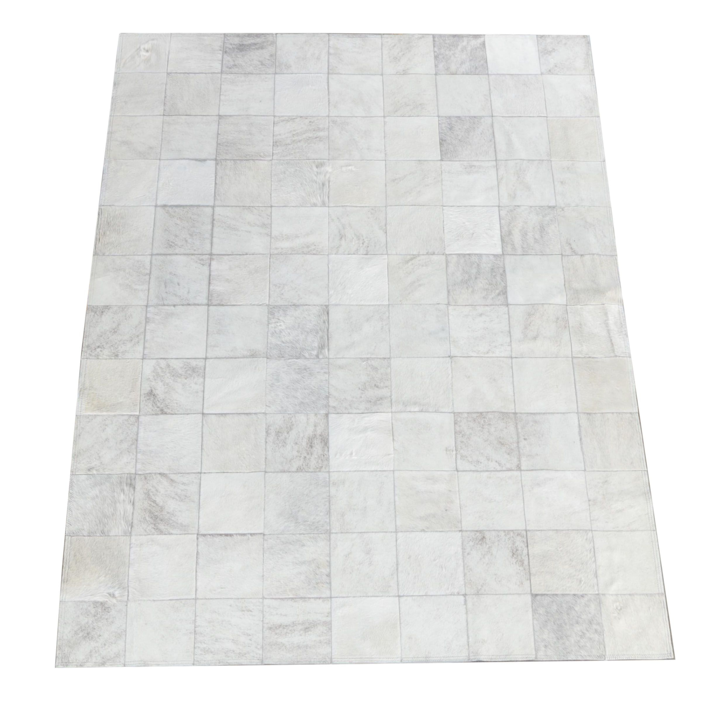 Cowhide Pure Checkered Area Rug