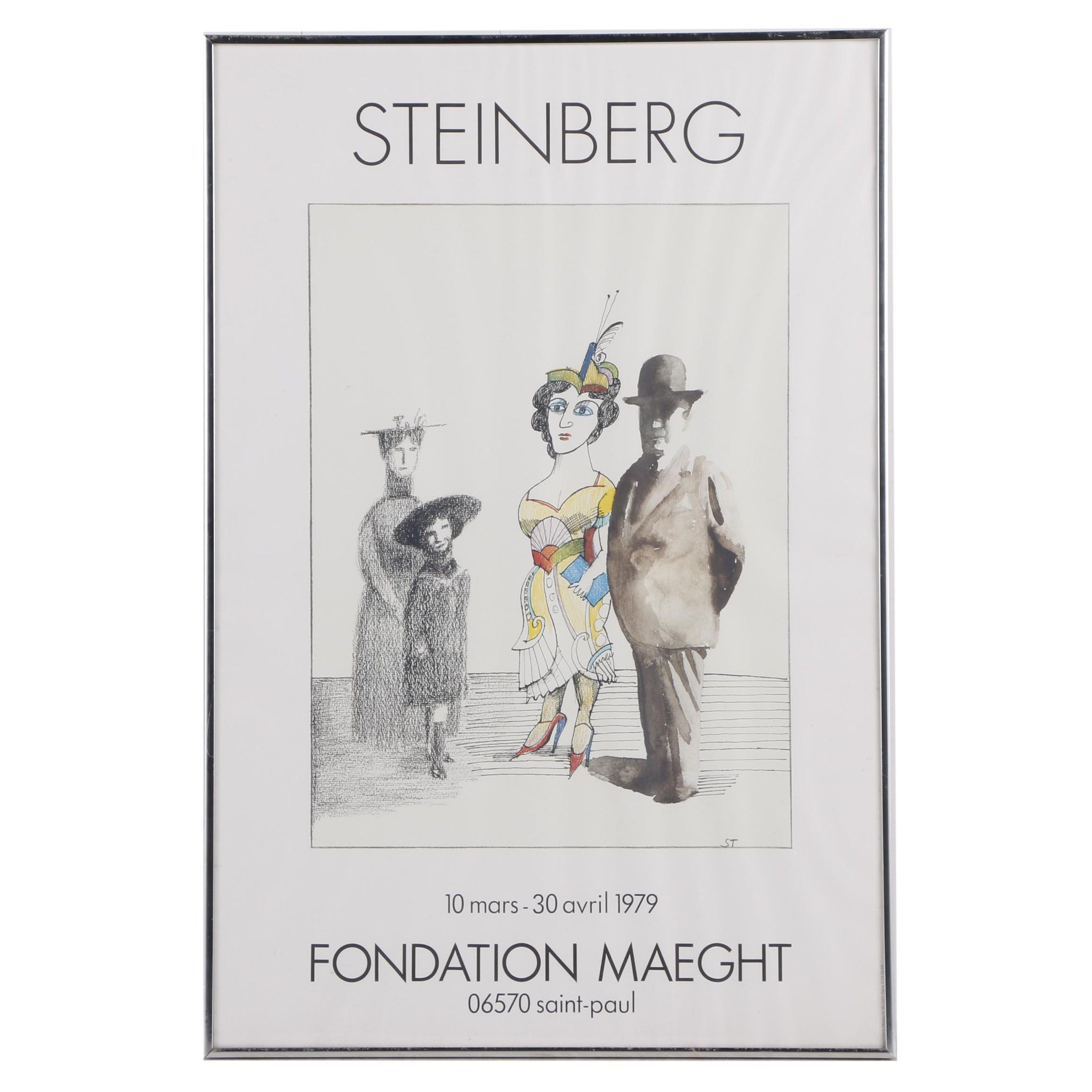 Offset Lithograph Gallery Poster for Saul Steinberg