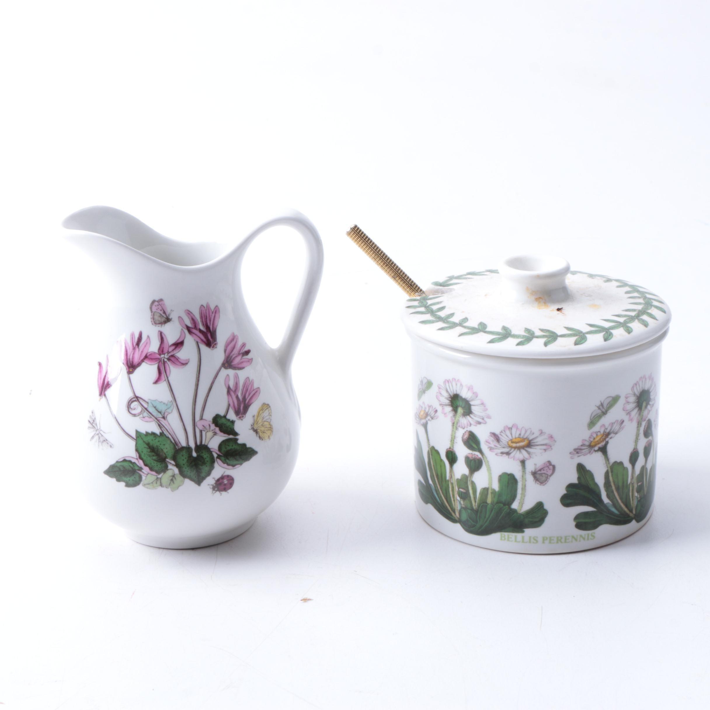 """Portmeiron """"Botanic Garden"""" Mini Ewer and Jam Jar"""