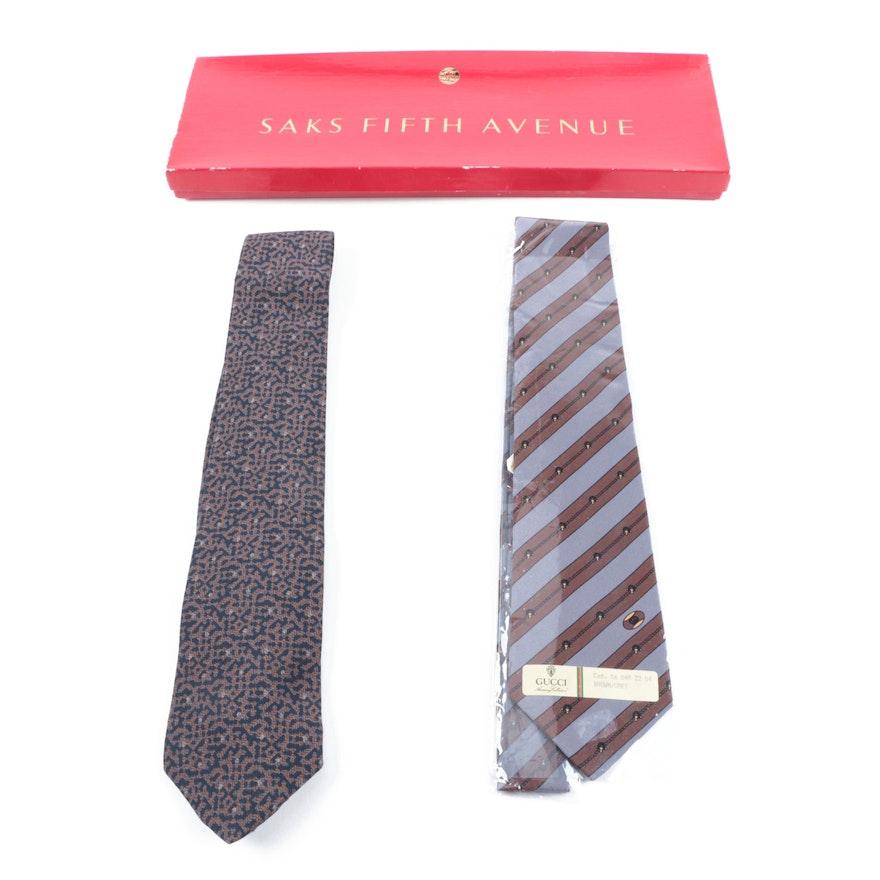 3f3f40196703 Men's Vintage Silk Neckties Including Gucci : EBTH