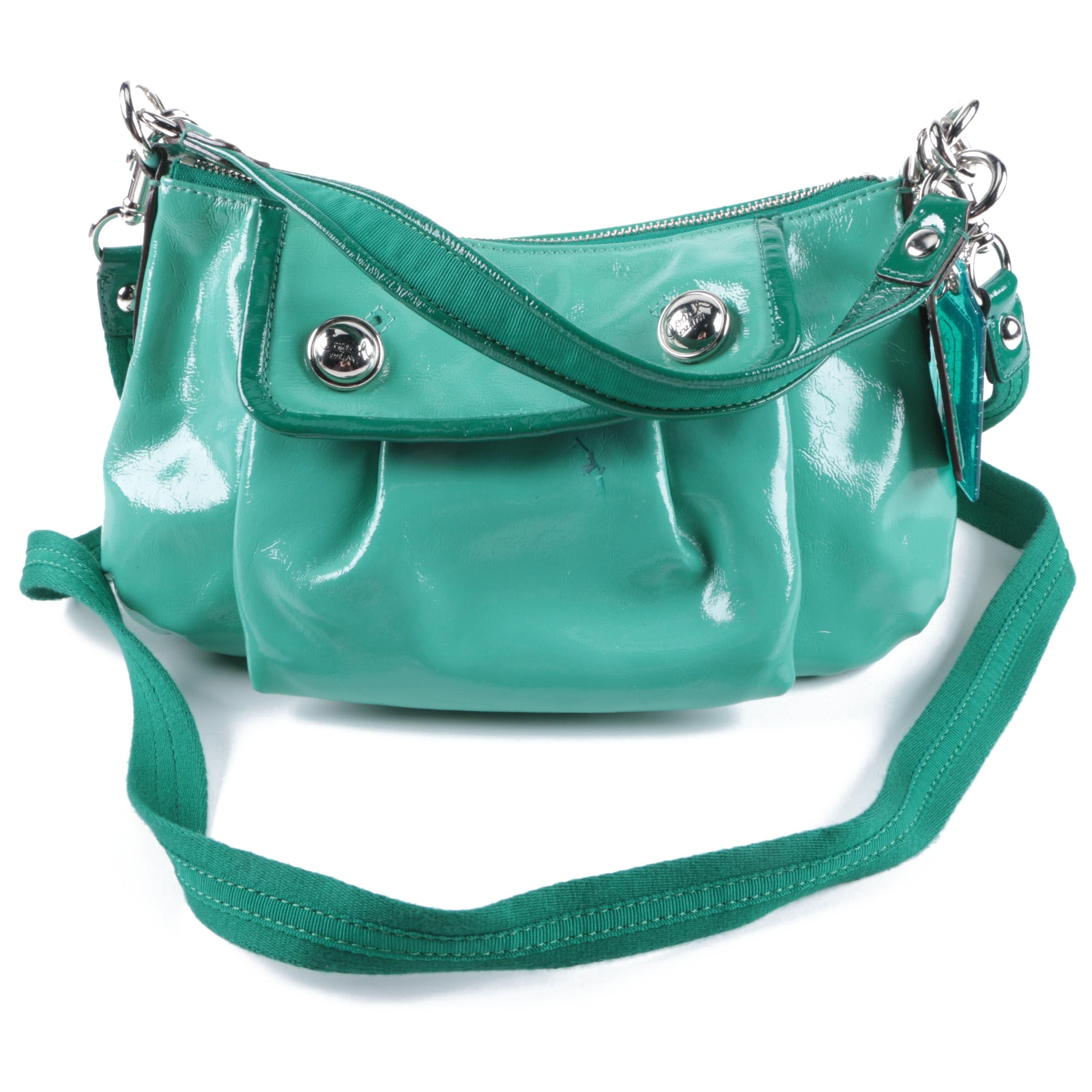 Coach Green Patent Leather Groovy Bag
