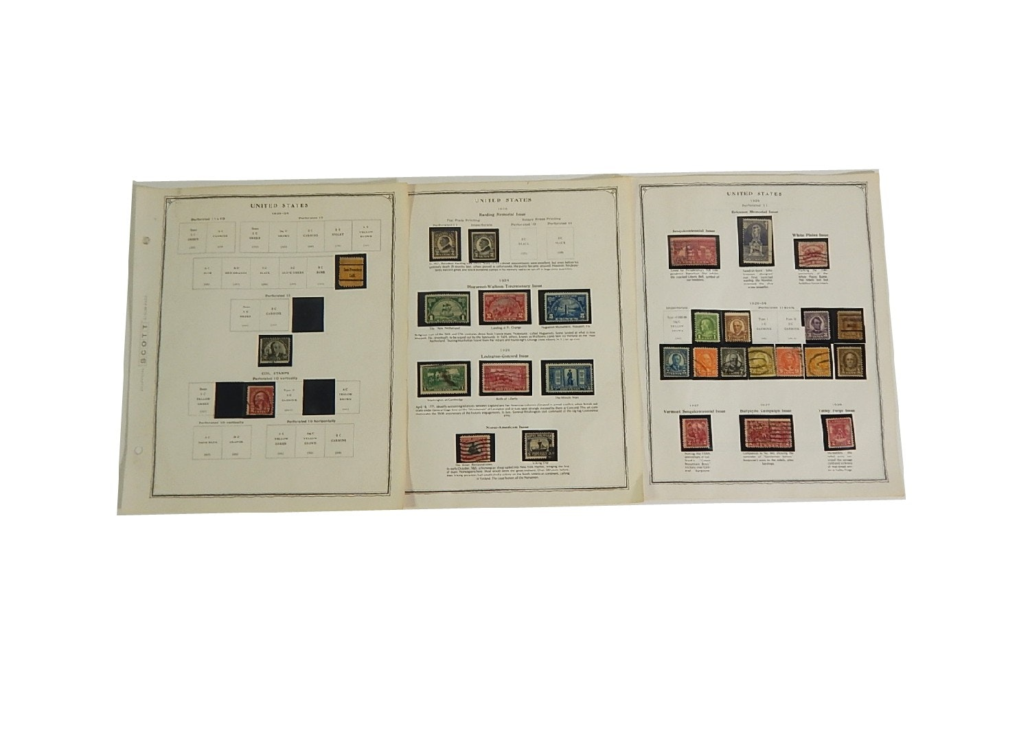 Early 1900s Stamp Collection from Scott Collectors Book - 1923 to 1934