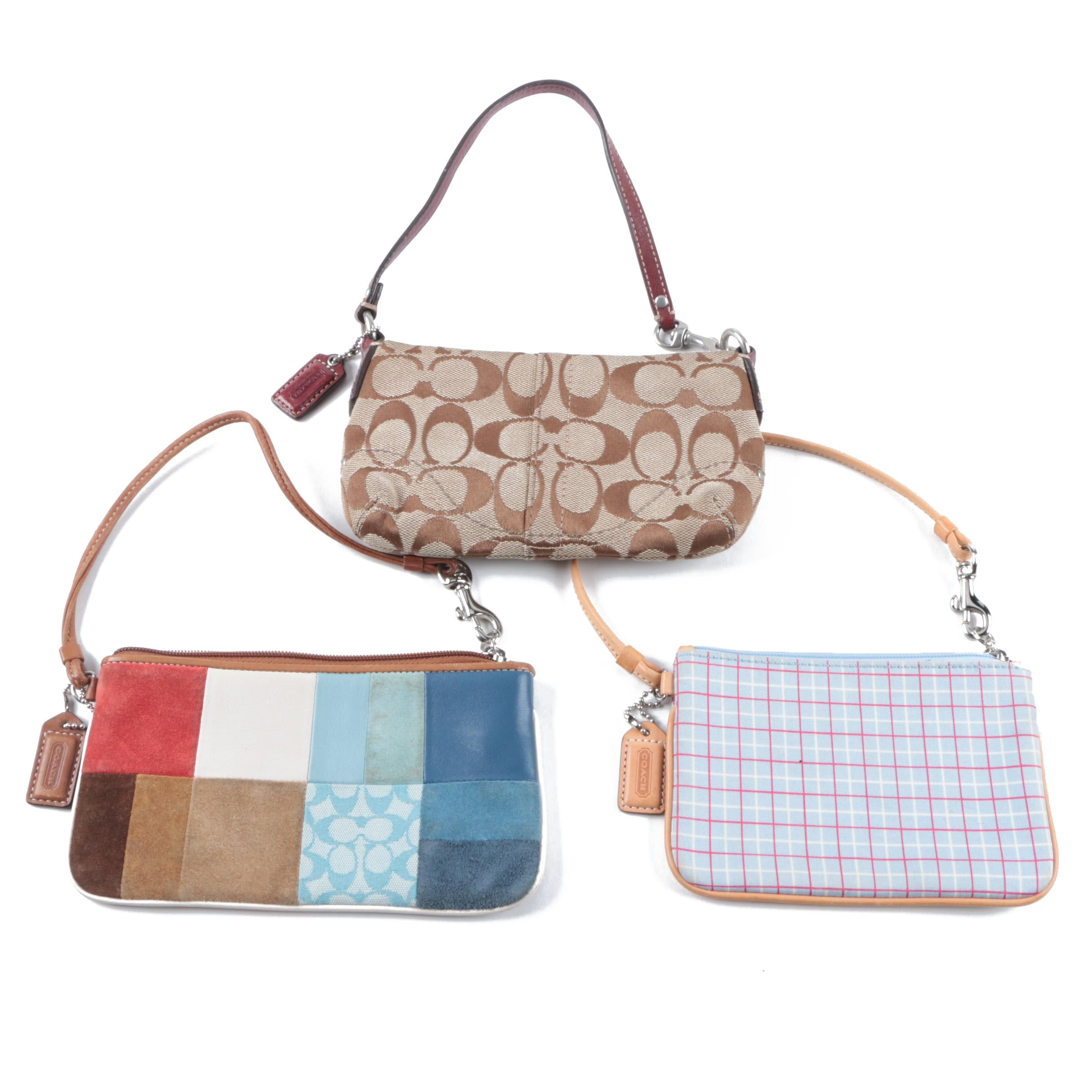Coach Wristlets Including Patchwork and Signature