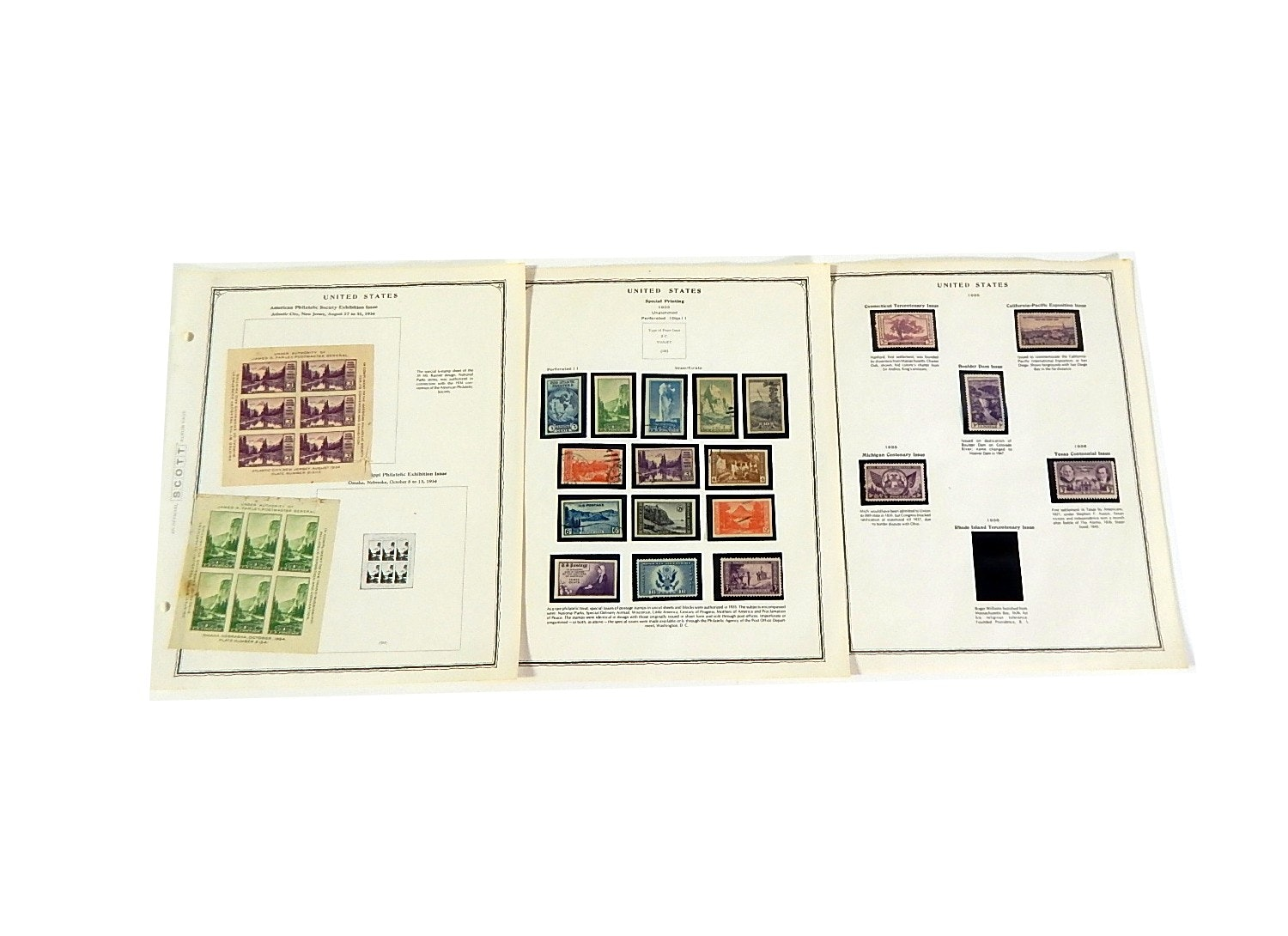 Early 1900s Stamp Collection from Scott Collectors Book - 1934 to 1935