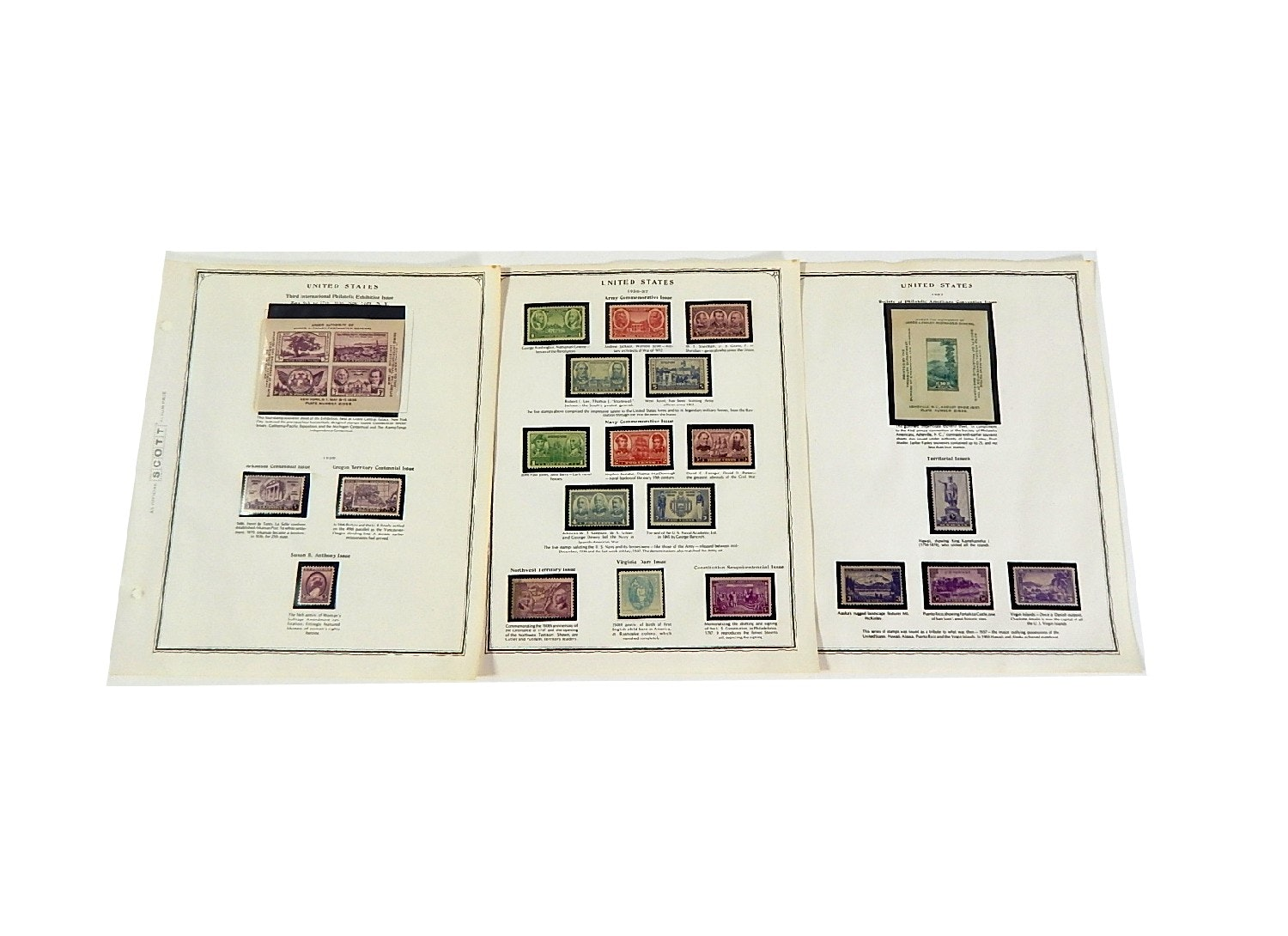Early 1900s Stamp Collection from Scott Collectors Book - 1936 to 1937
