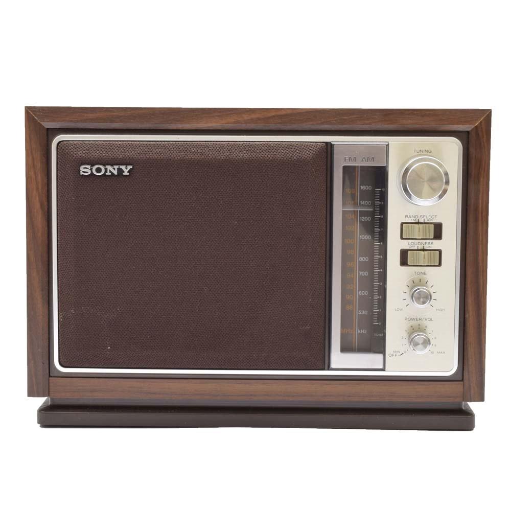 Sony AM/FM Electric Shelf Radio
