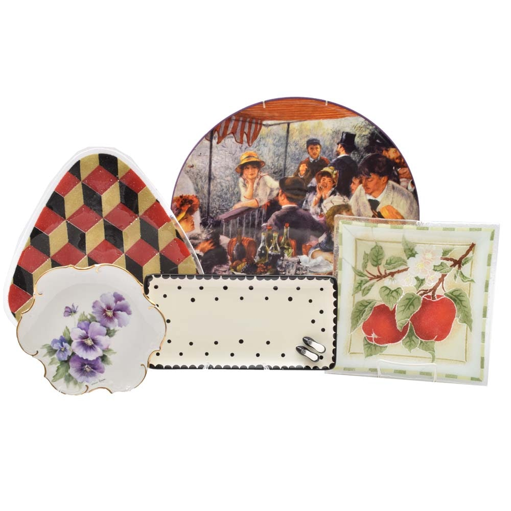 Decorative Ceramic Plate Assortment
