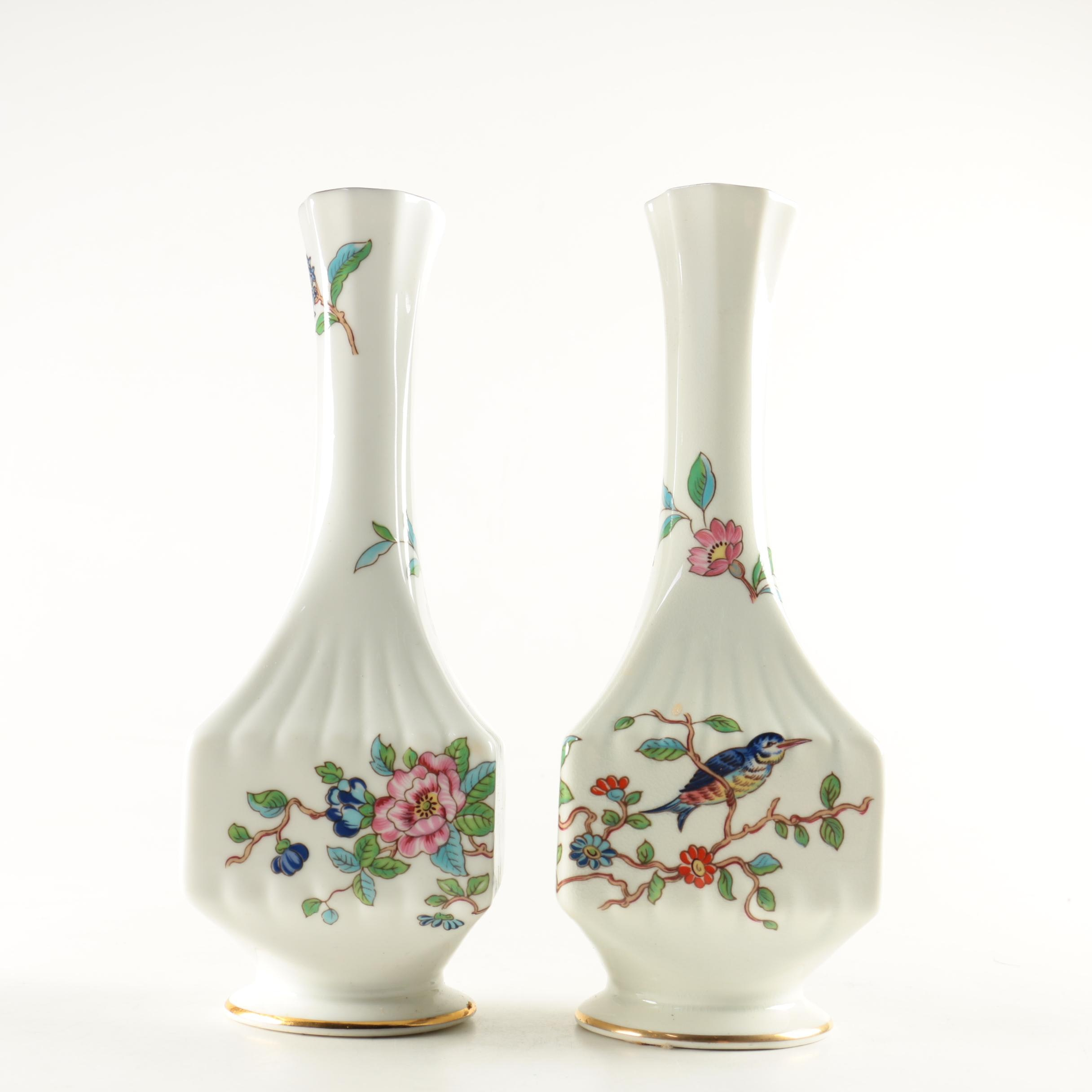 "Pair of Aynsley Bud Vases in ""Pembroke"""