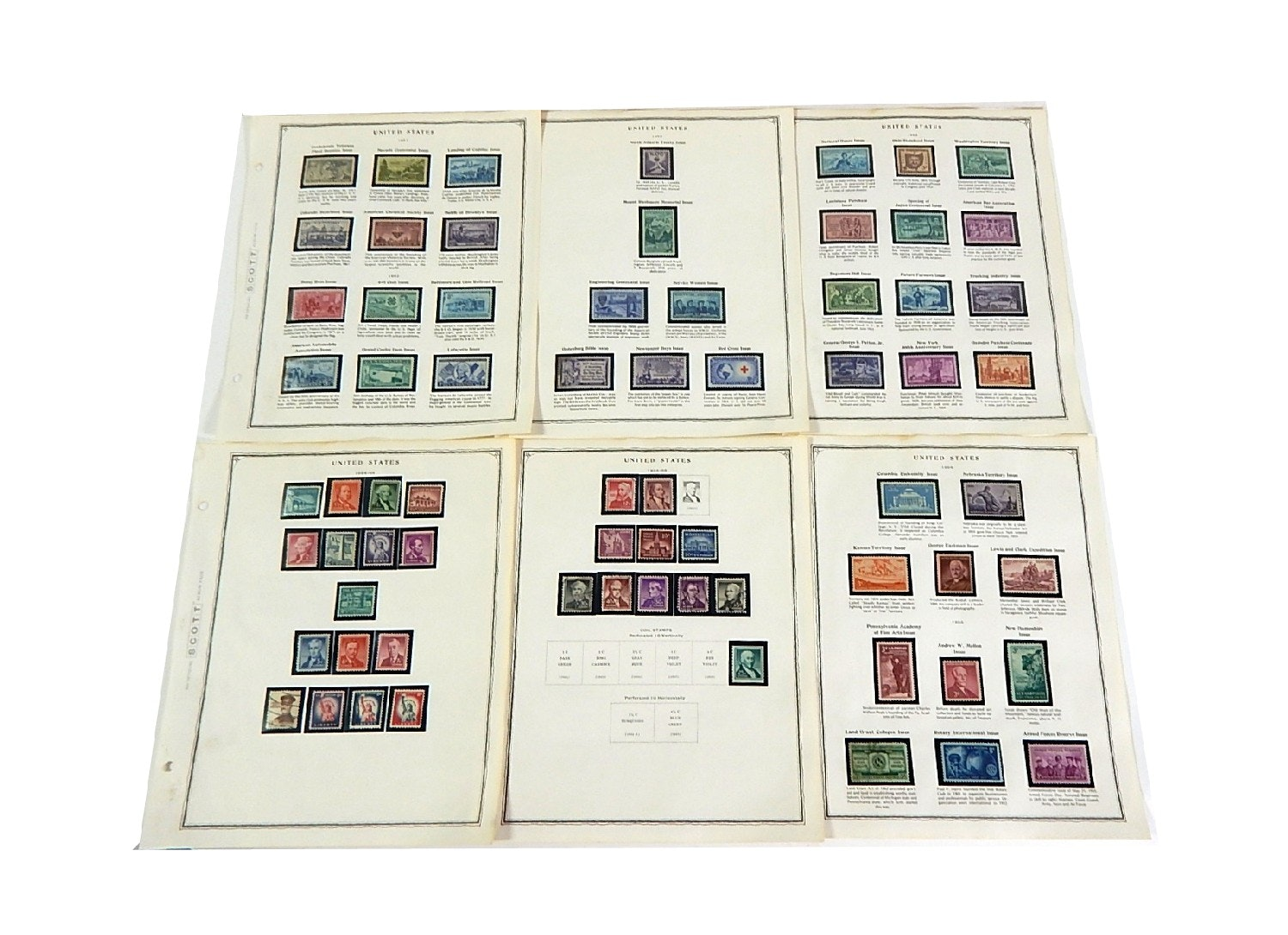 Early 1900s Stamp Collection from Scott Collectors Book - 1951 to 1955