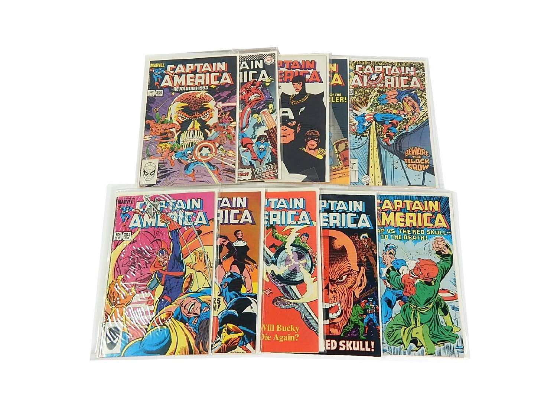 "Bronze Age Marvel Comics with ""Captain America"""