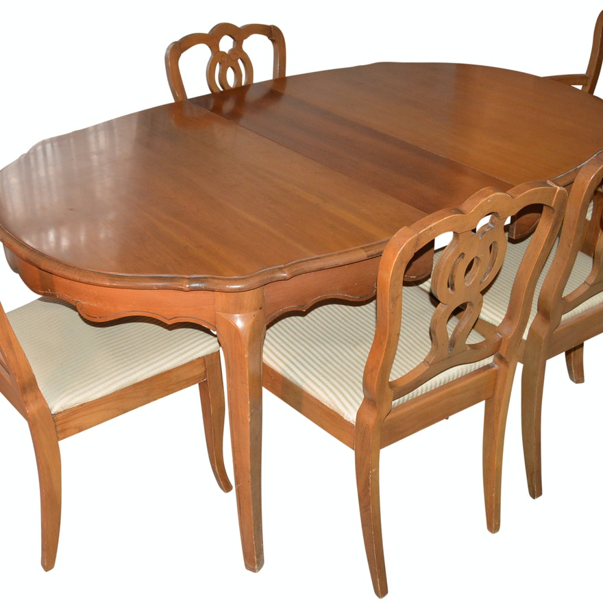 French Provential Dining Set By Walter Wabash Furniture