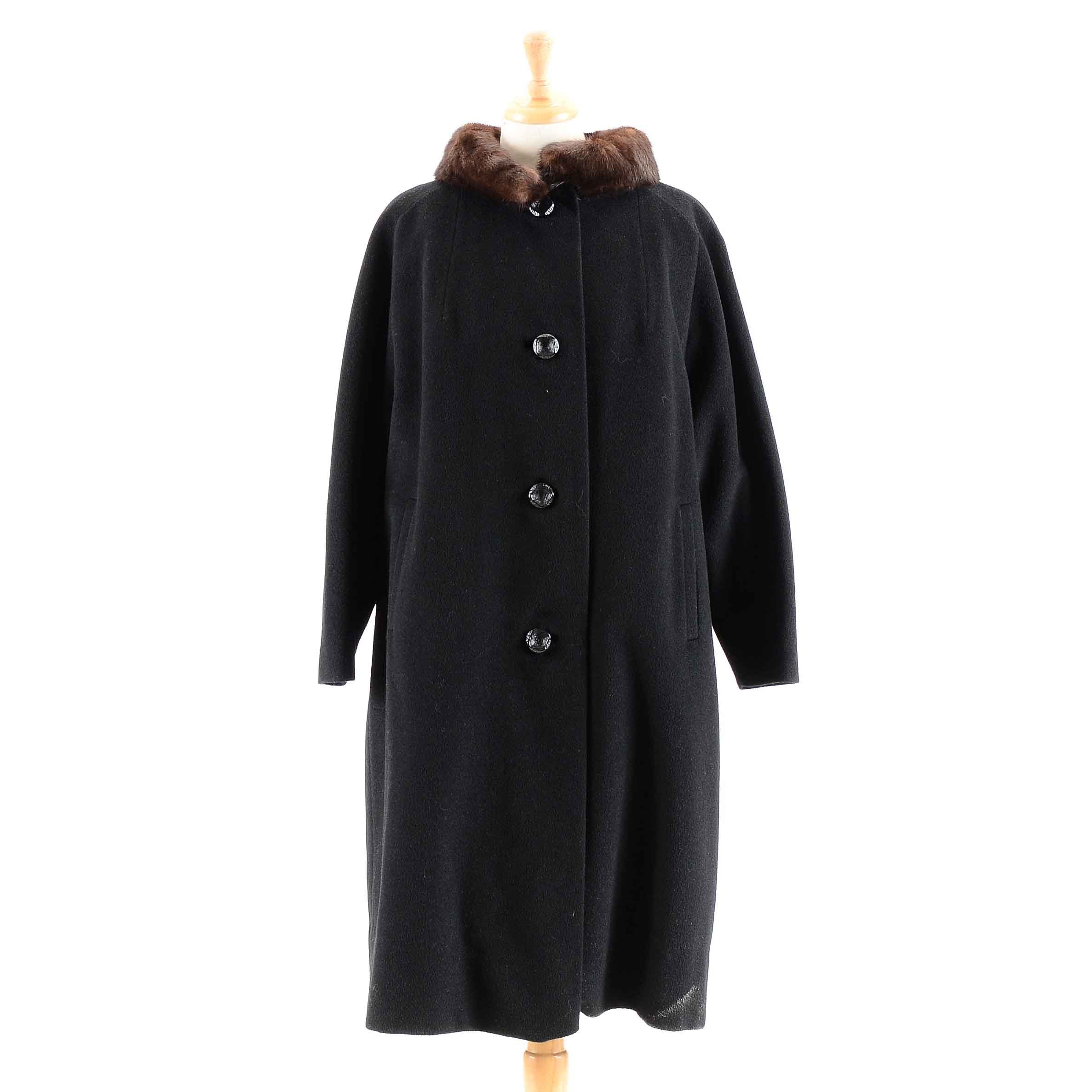 Vintage Women's Cashmere and Mink Fur Coat