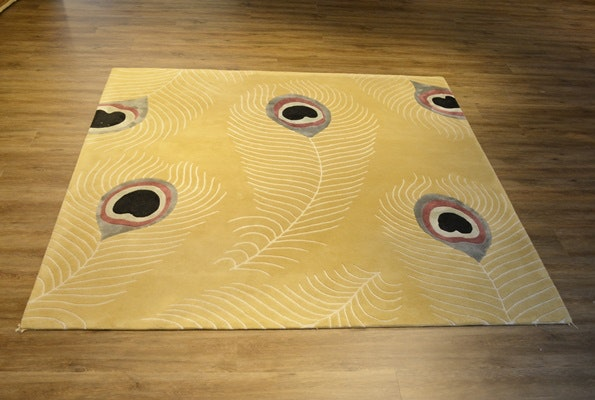 Hand Tufted Transitional Wool Area Rug Ebth
