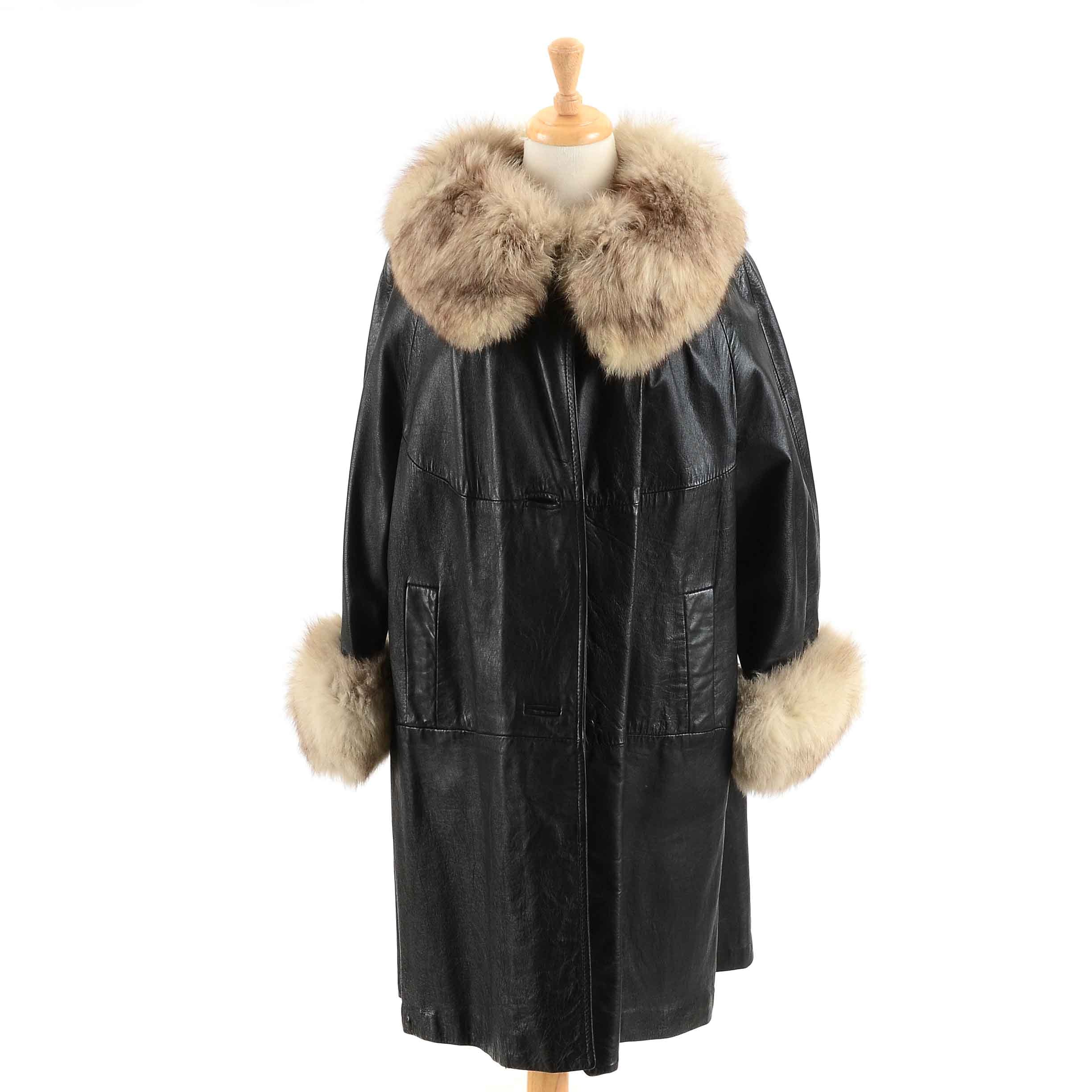 Women's Vintage Leather and Fur Jacket