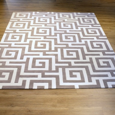 Hand Tufted Modern Synthetic Area Rug