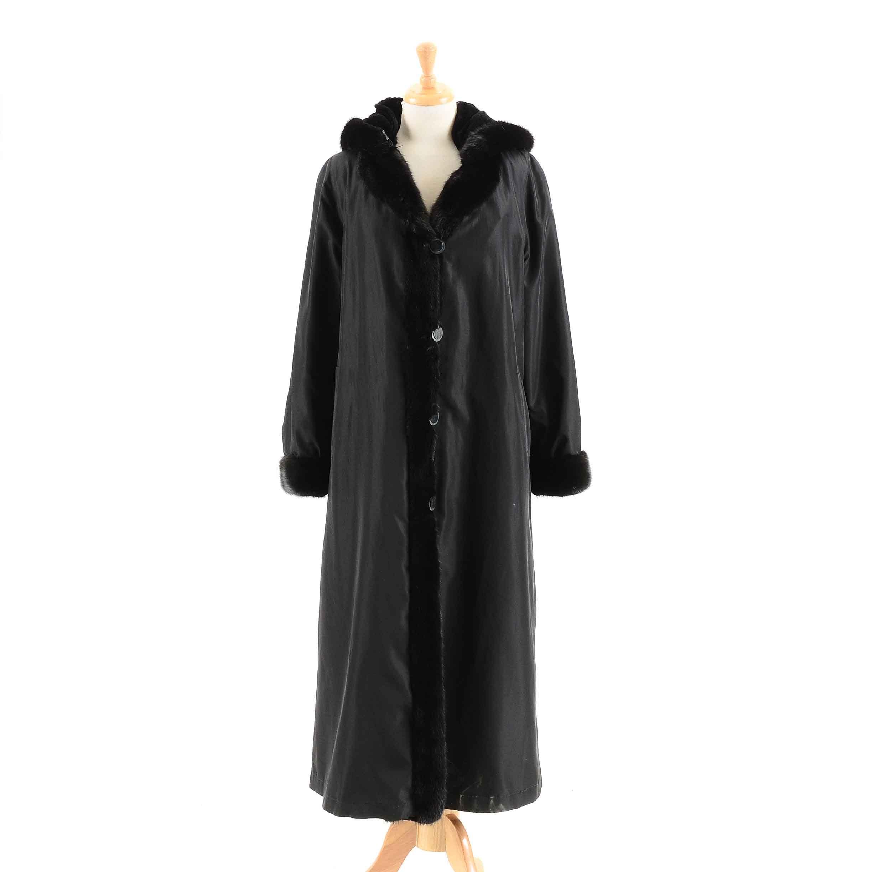 Vintage Mink Trimmed Raincoat