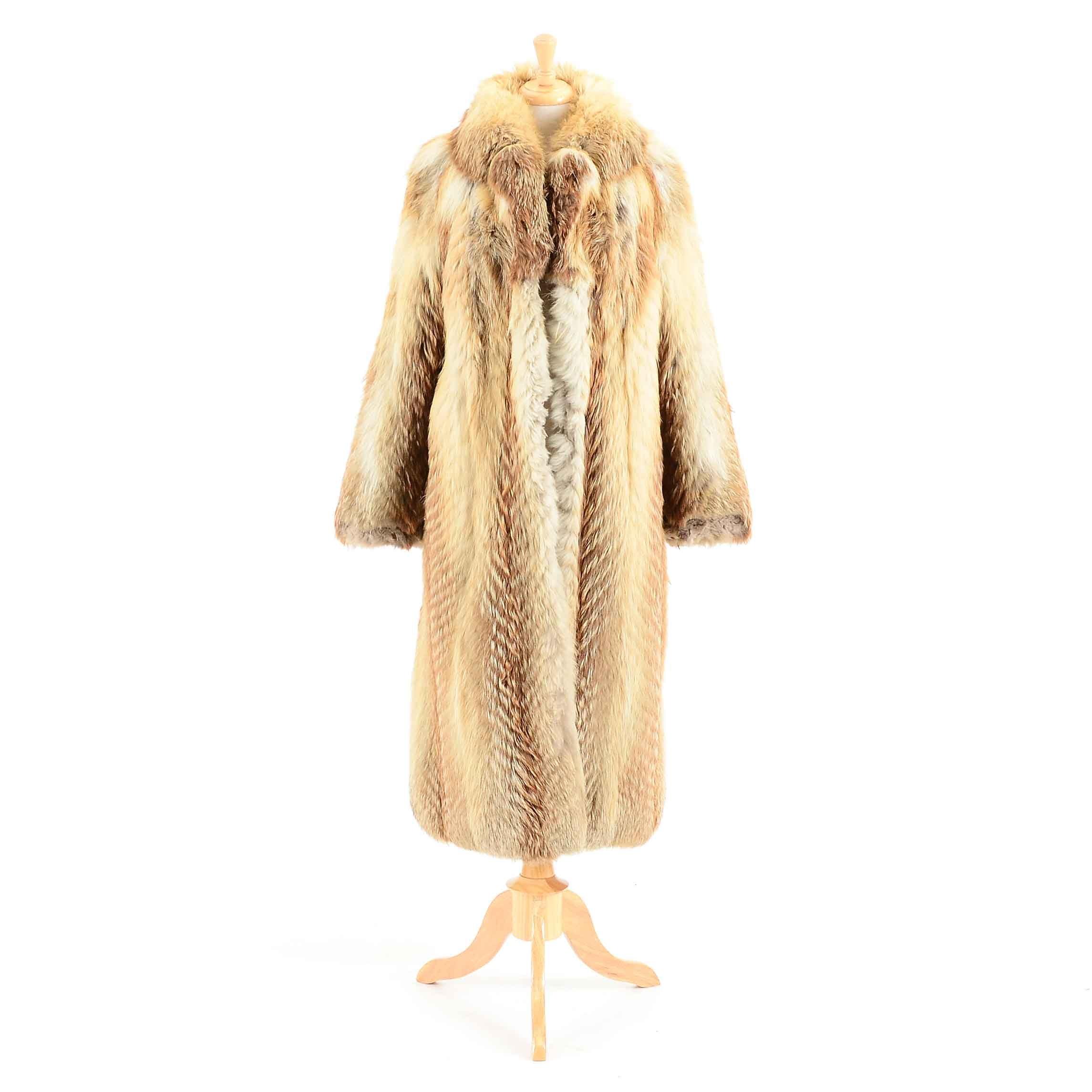 Women's Vintage Fox Fur Coat