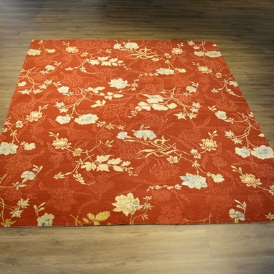 Lapchi Hand-Knotted Tibetan Wool and Silk Area Rug
