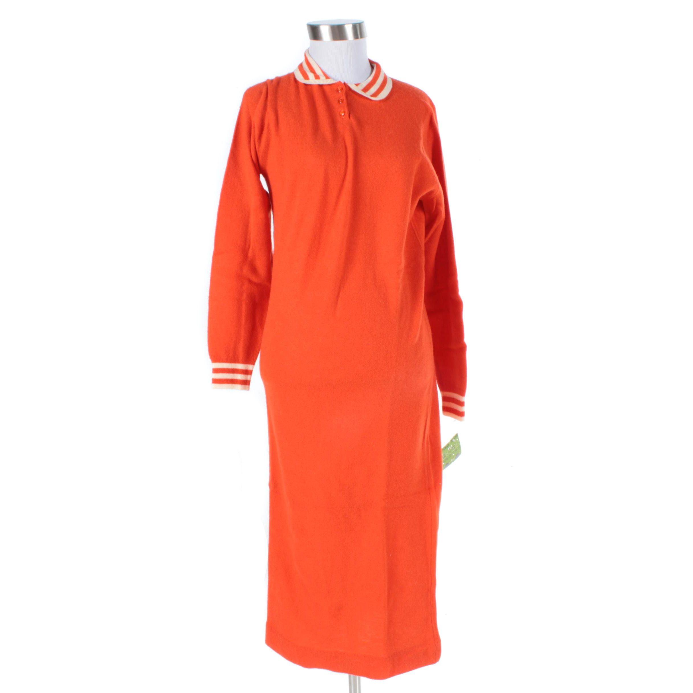 Vintage Ventilo Paris Lambswool Dress