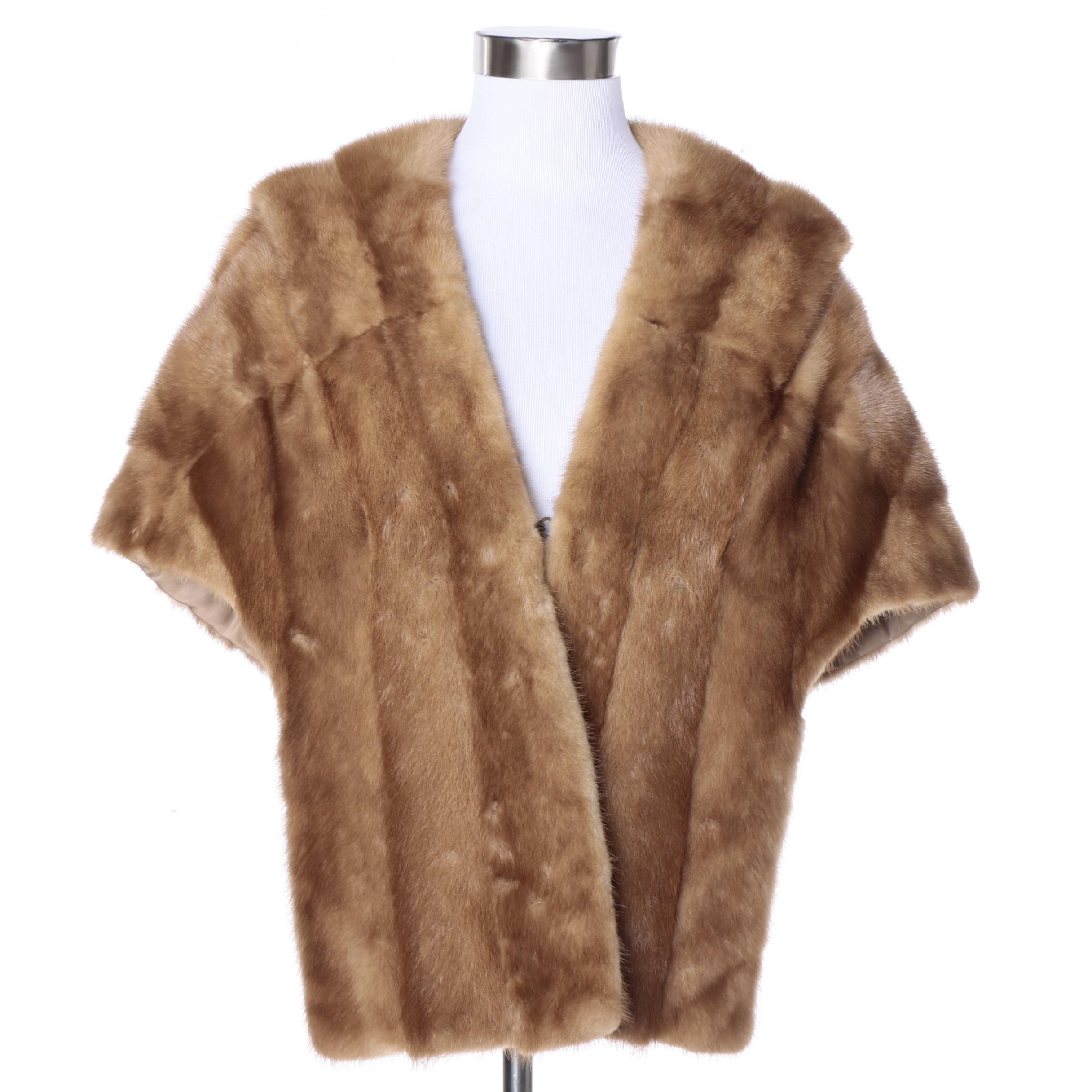 Vintage Mink Fur Stole from Daseler Furs