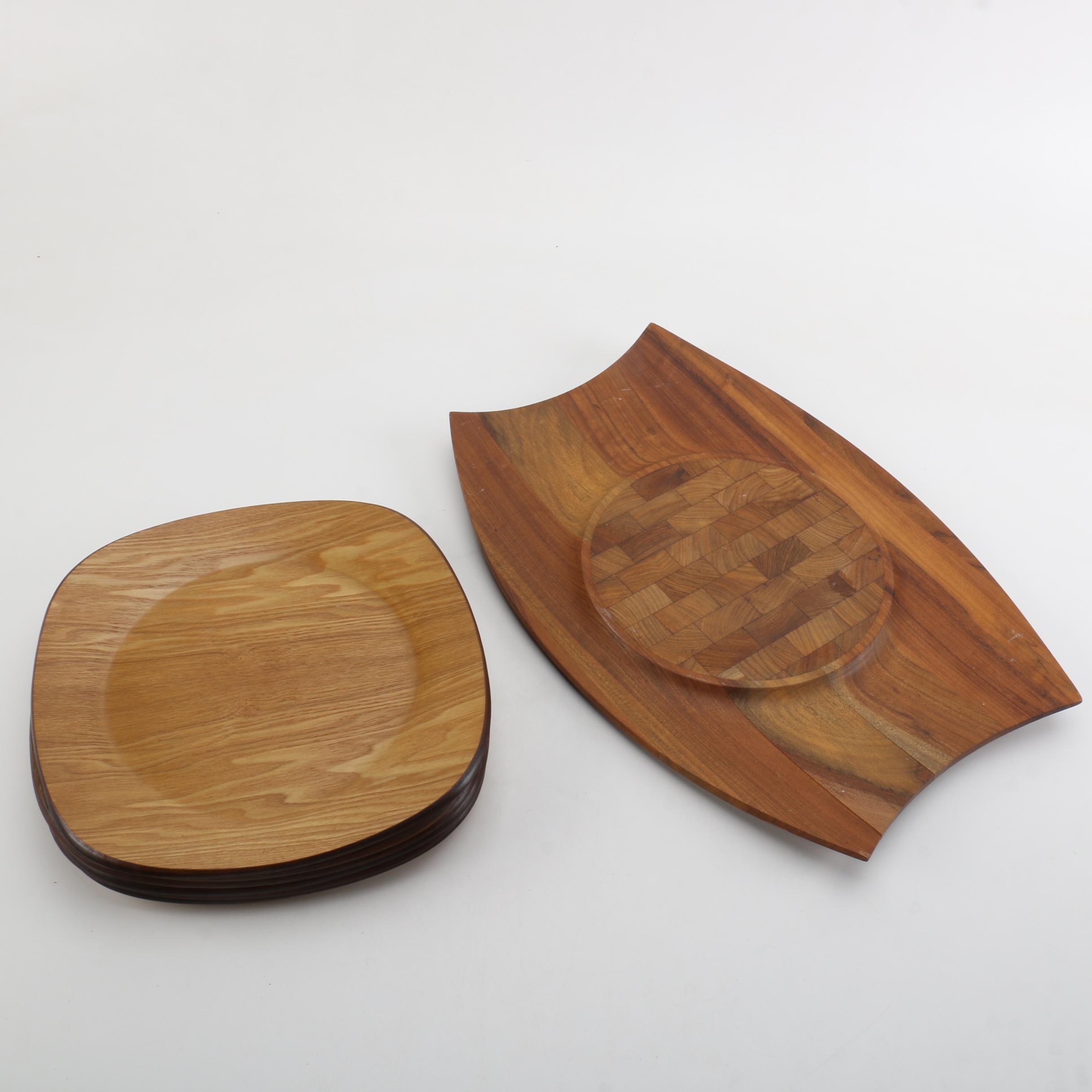 & Vintage Dansk Wooden Plates and Jens Quistgaard \