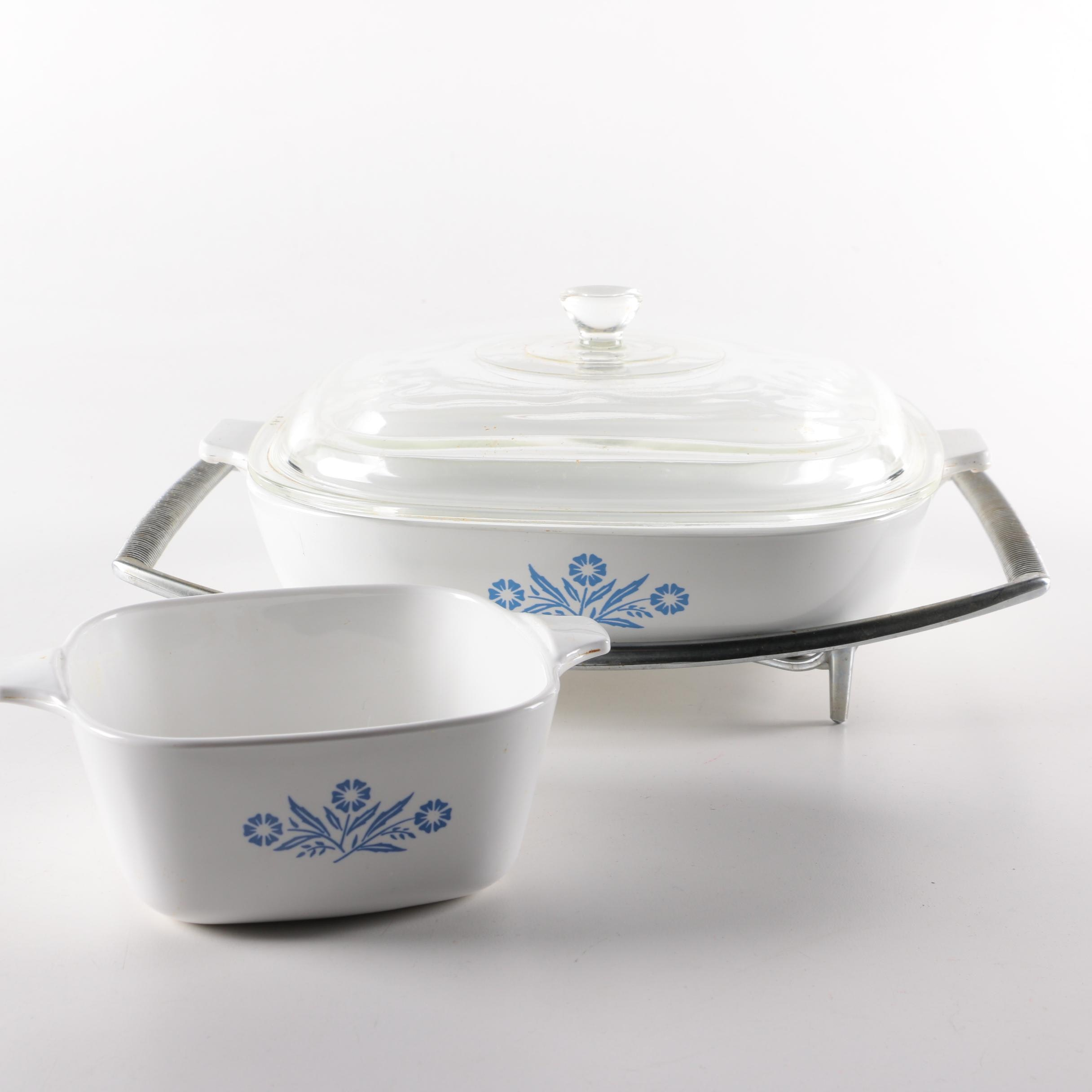 "Corningware ""Cornflower Blue"" Bakeware"
