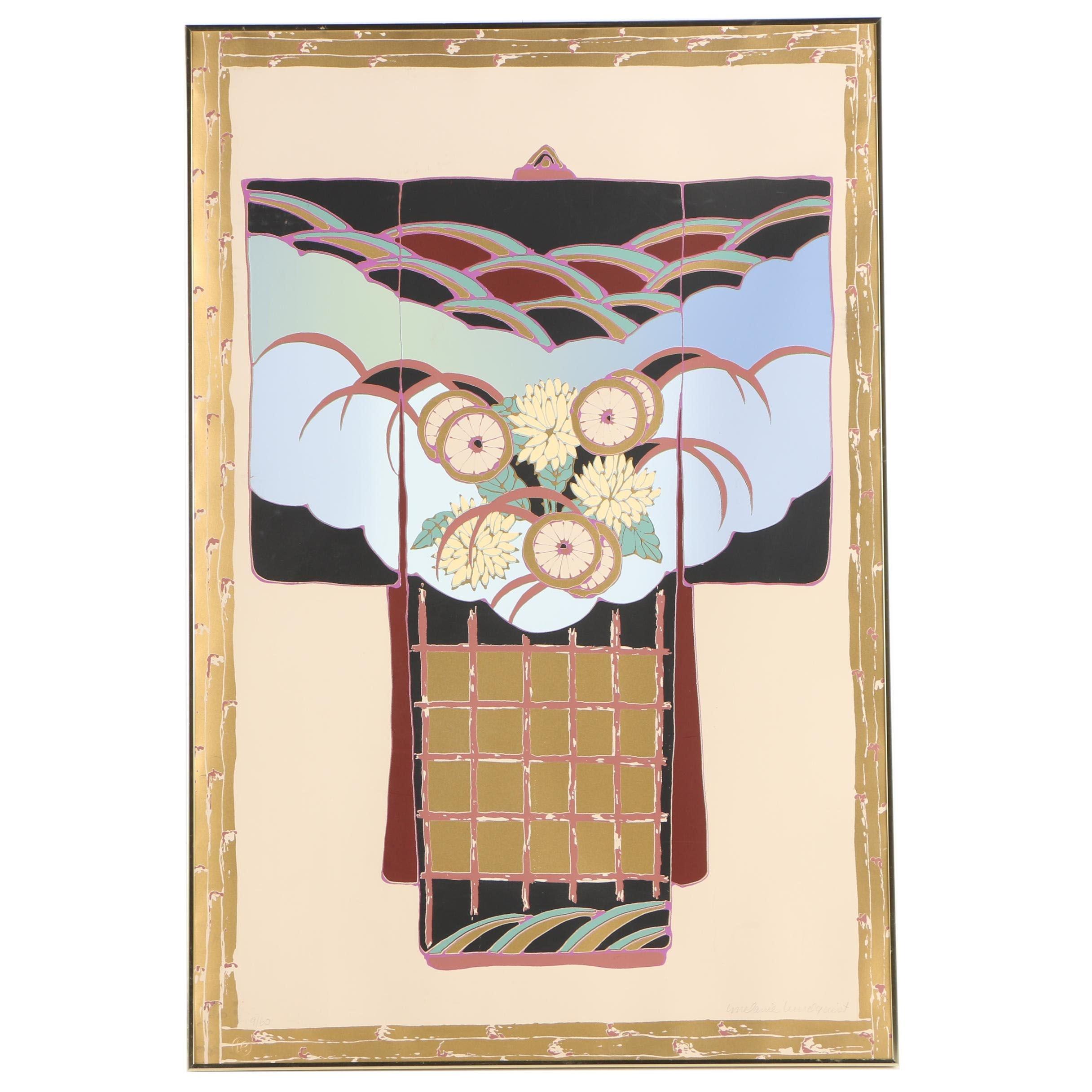 Melanie Lundquist Limited Edition Serigraph of a Kimono