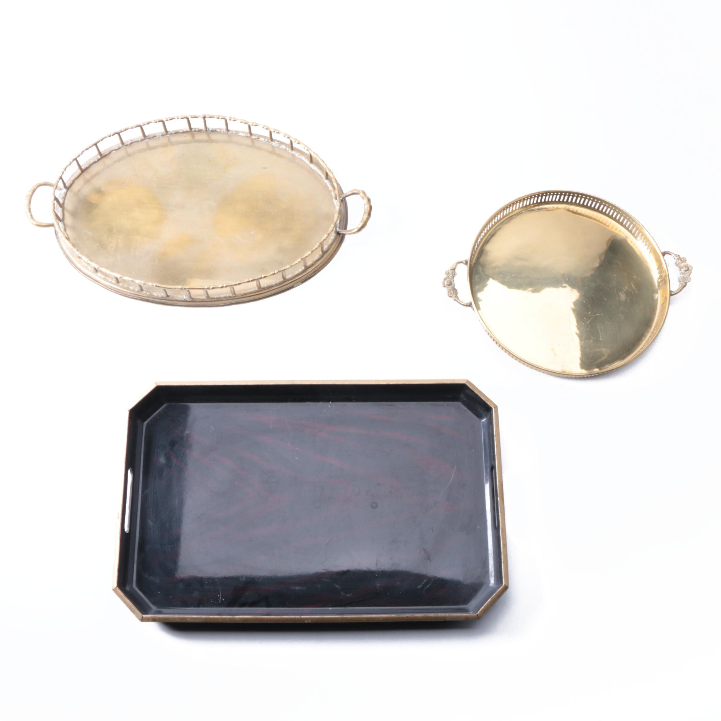Japanese Otagiri Limited Edition Platter and Brass Platters