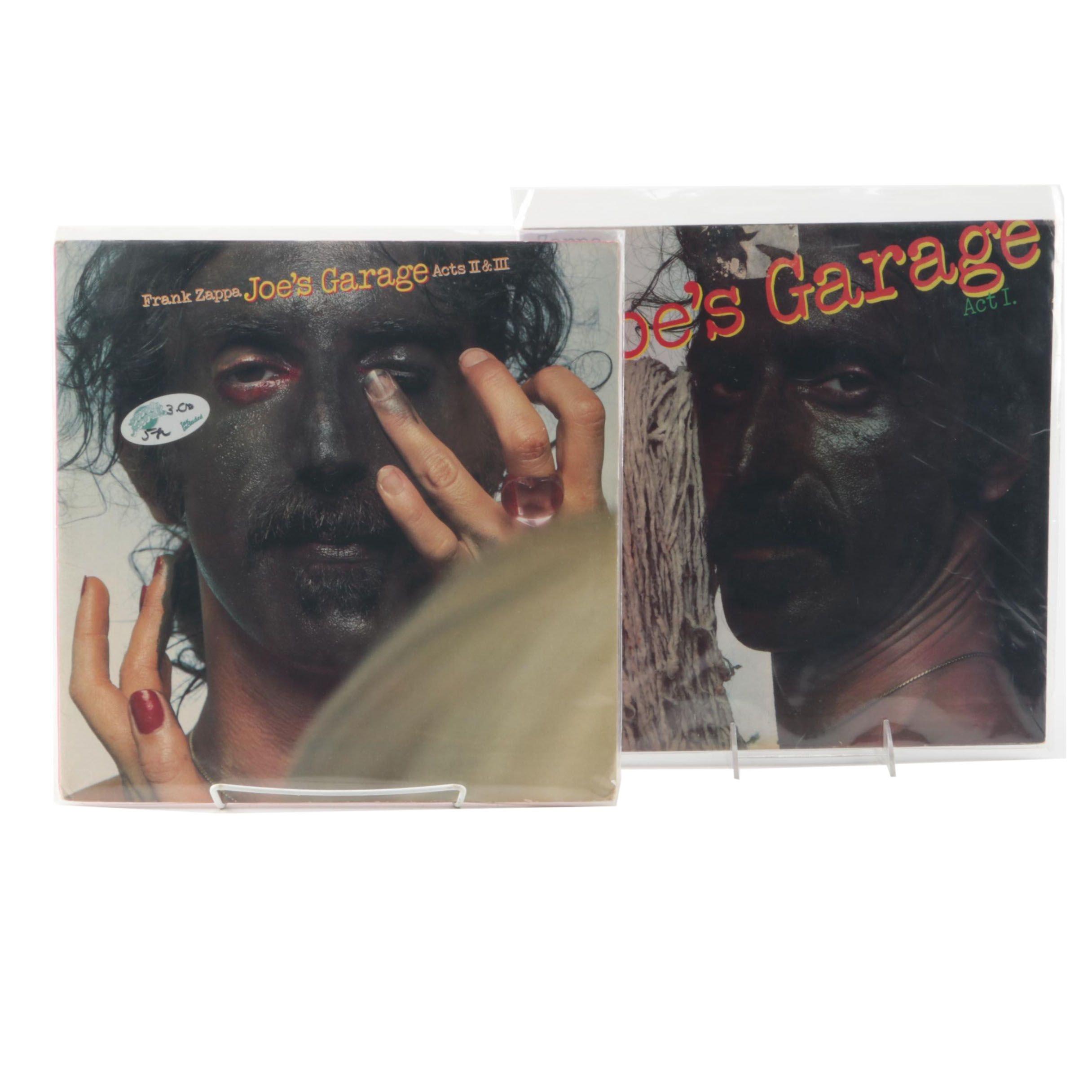 "Frank Zappa ""Joe's Garage Act I"" and ""Joe's Garage Acts II & III"" LPs"