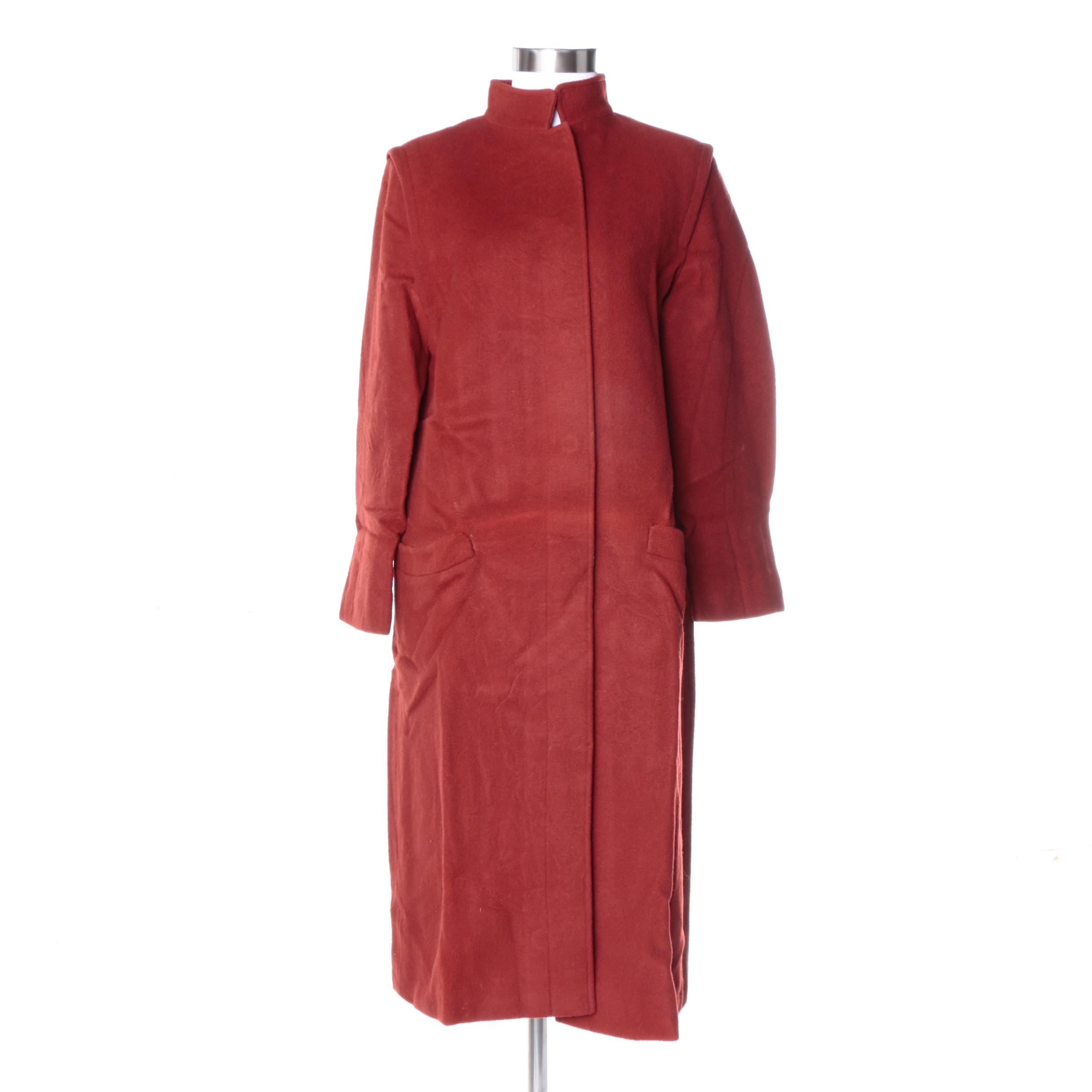 Vintage Georges Rech of France Red Wool Coat