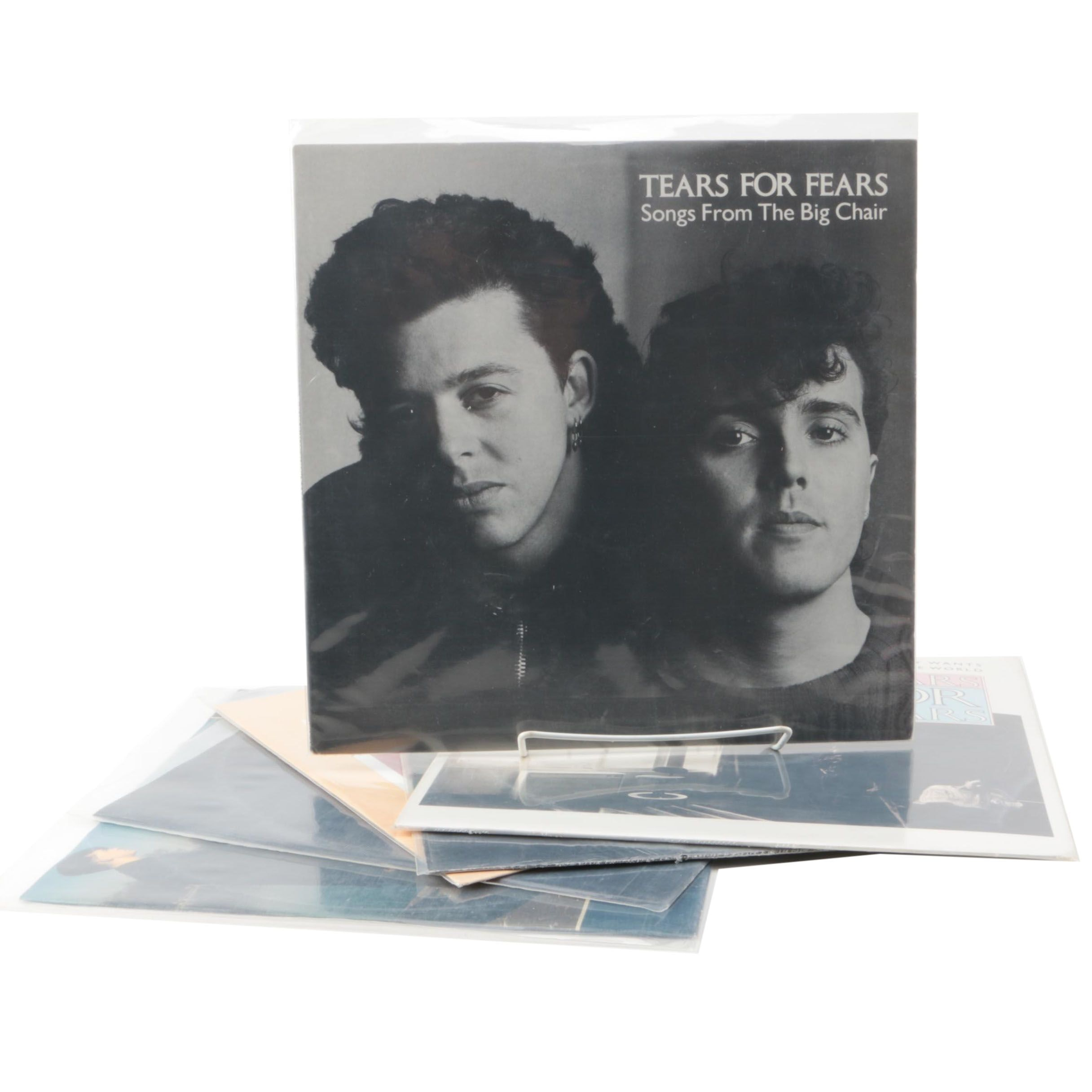 """Tears For Fears LPs and 12"""" Singles Including """"Songs From The Big Chair"""""""