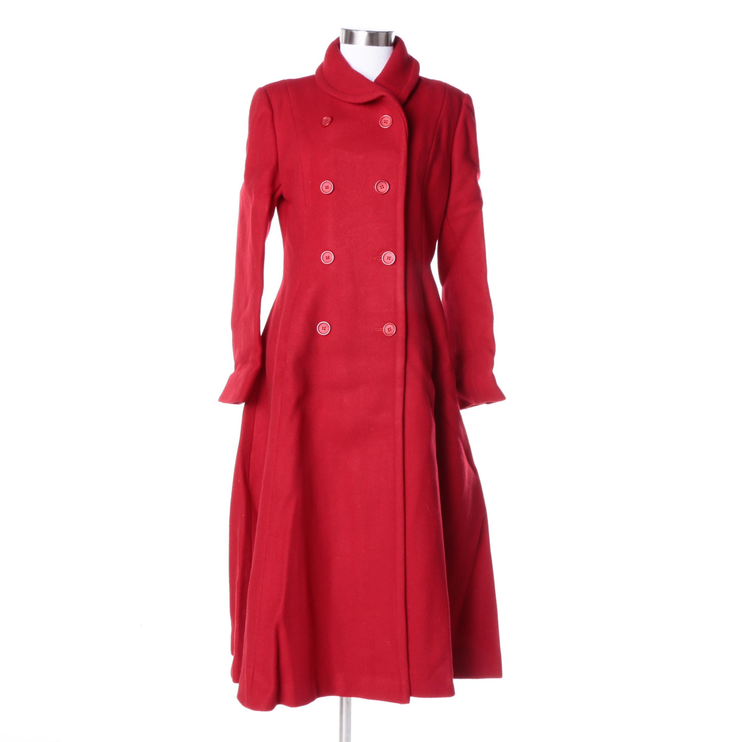 Vintage Cuddle Coat Double-Breasted Coat