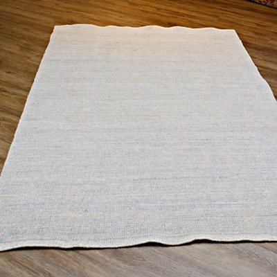 Hand Loomed Wool and Chenille Area Rug
