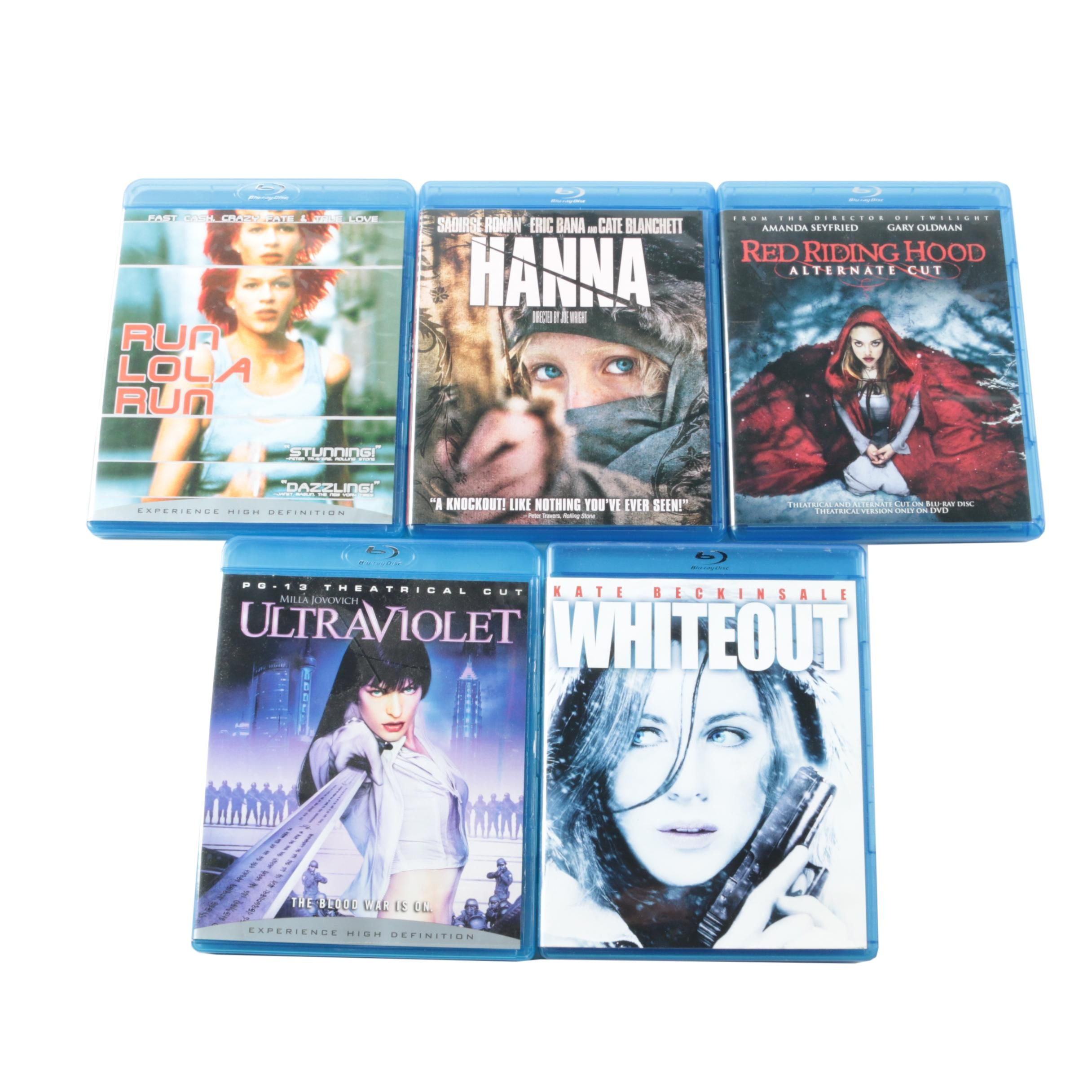 """Female Lead Action Blu-Ray Collection Including """"Hannah"""" and """"Run Lola Run"""""""