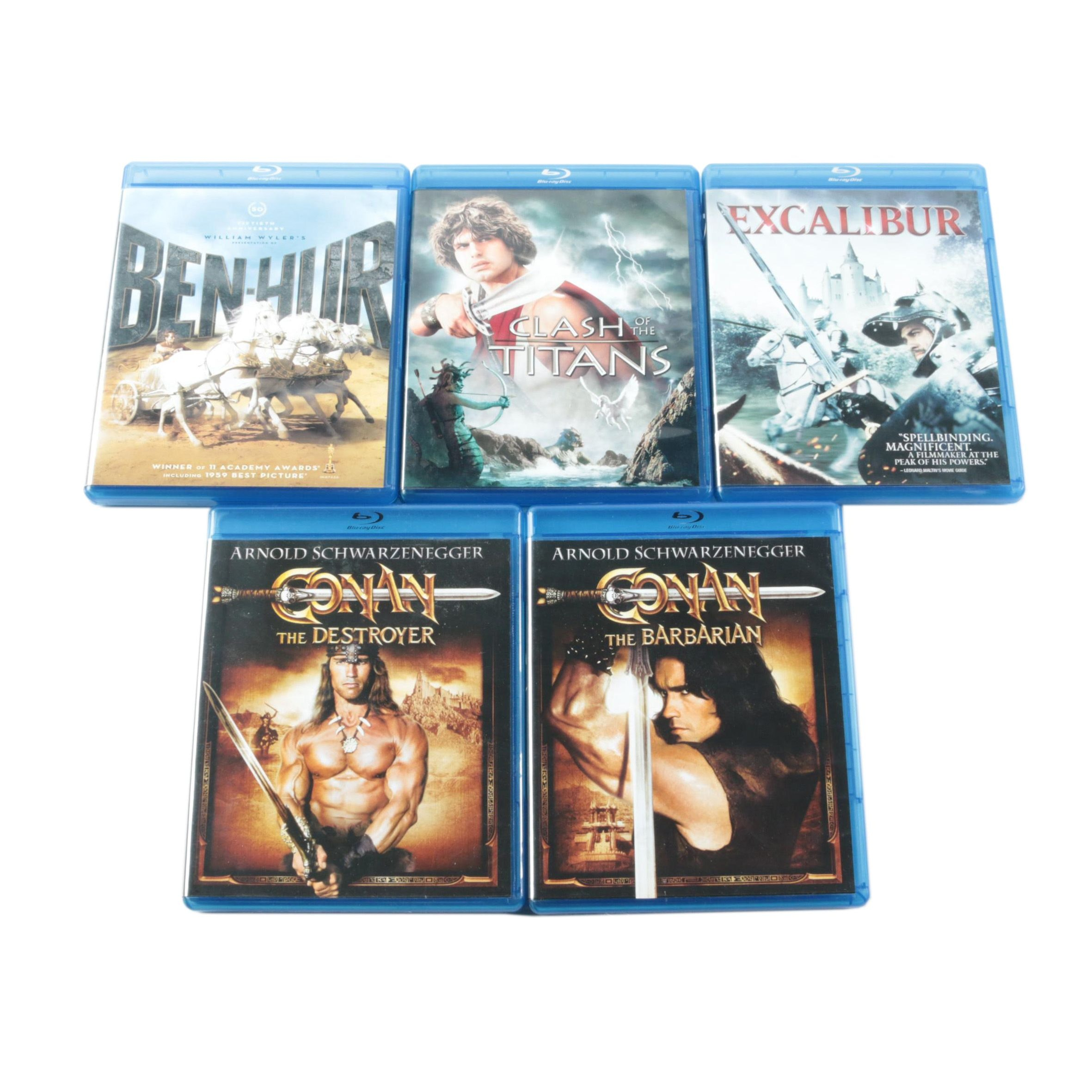 """Fantasy Movies on Blu-ray Including """"Ben-Hur"""" and """"Excalibur"""""""