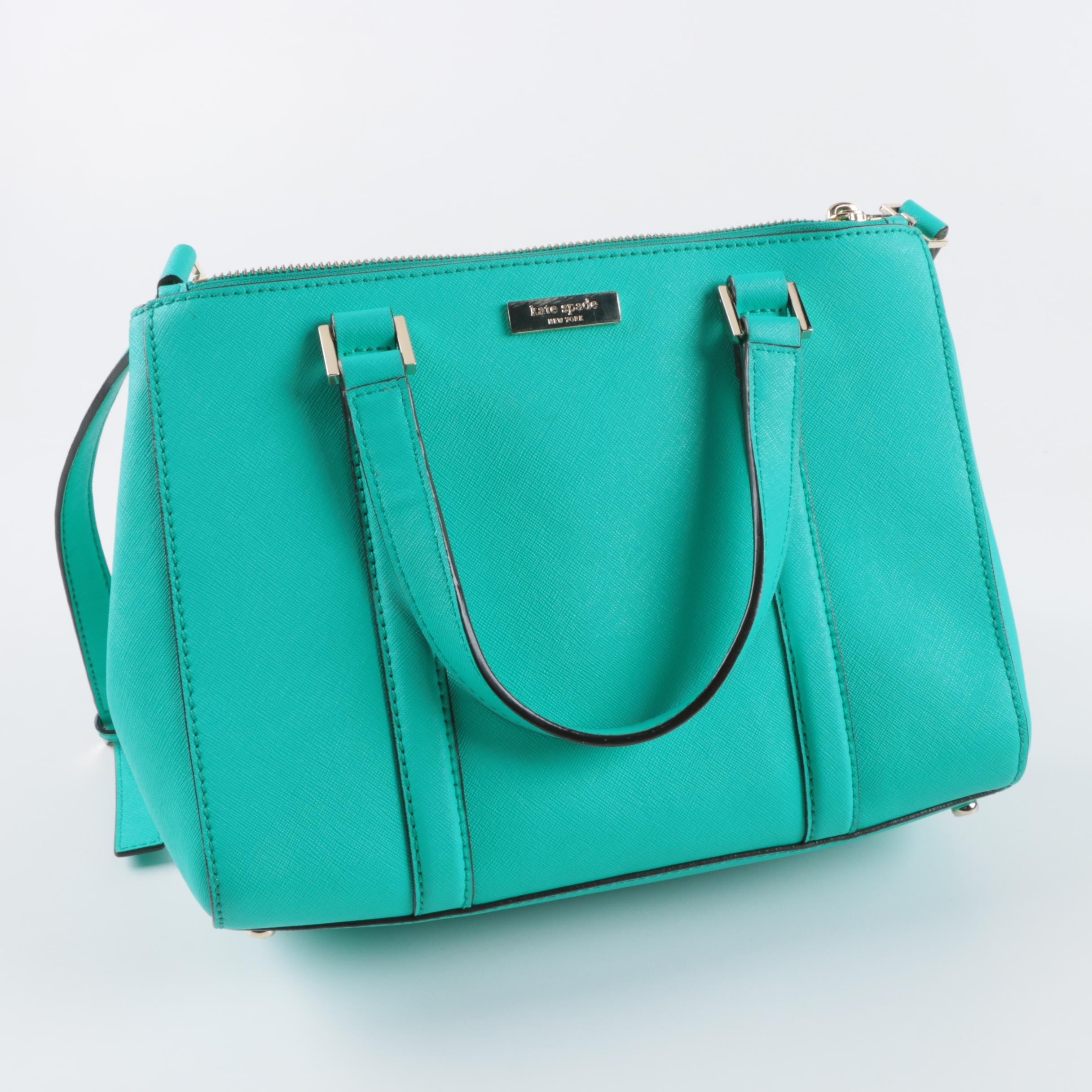 Kate Spade New York Turquoise Saffiano Leather Satchel