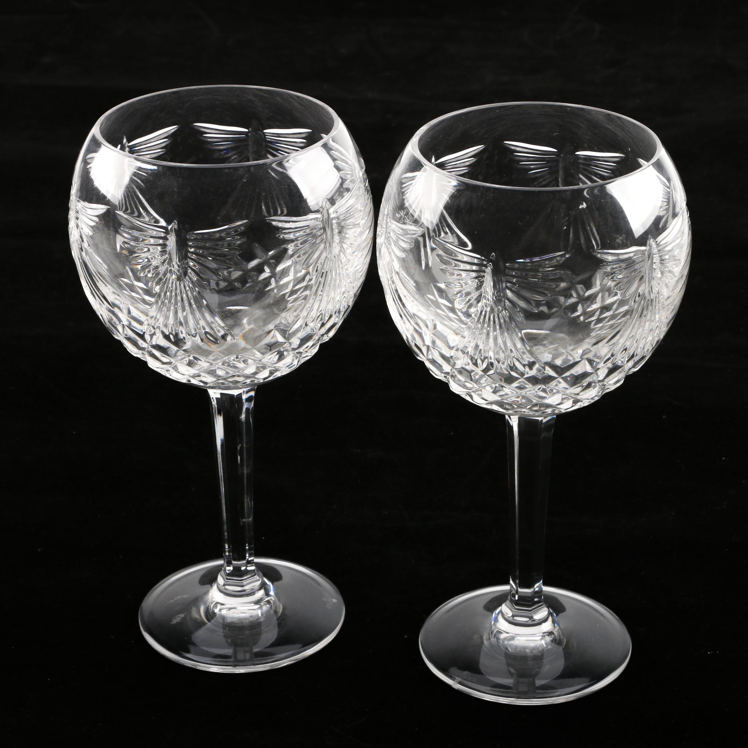 """Pair of Waterford Crystal """"The Millennium Collection: Peace"""" Toasting Glass"""