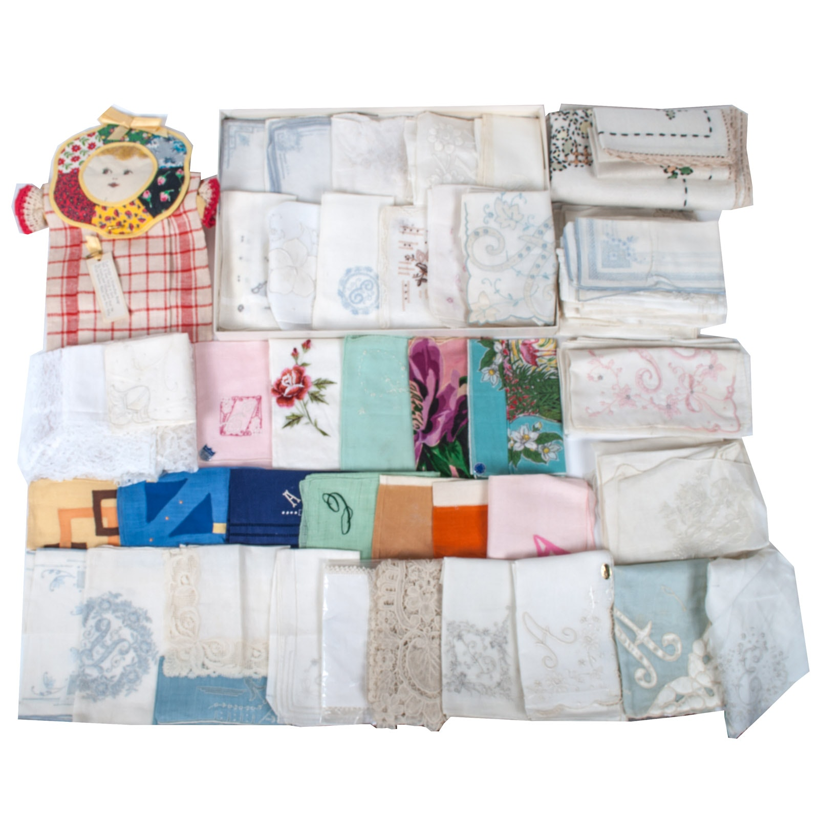 Vintage Linens and Lace Assortment