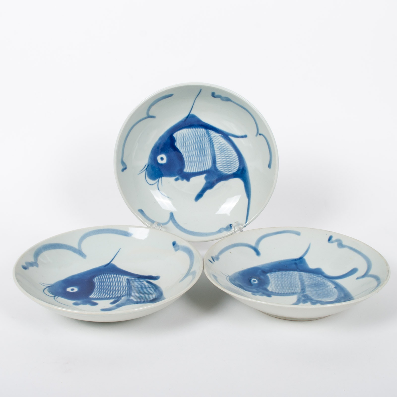 Chinese Ceramic Fish Motif Bowls
