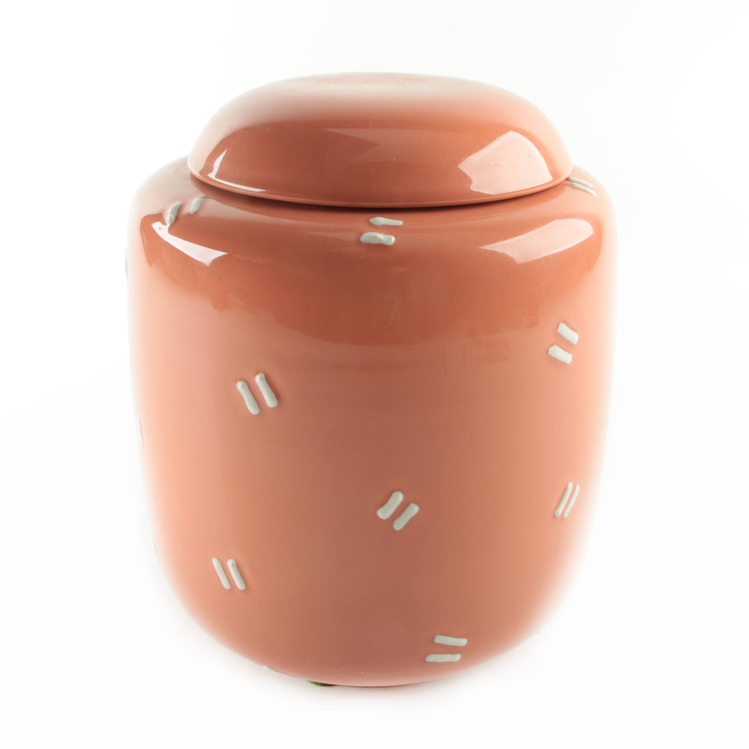 Glazed Ceramic Cookie Jar