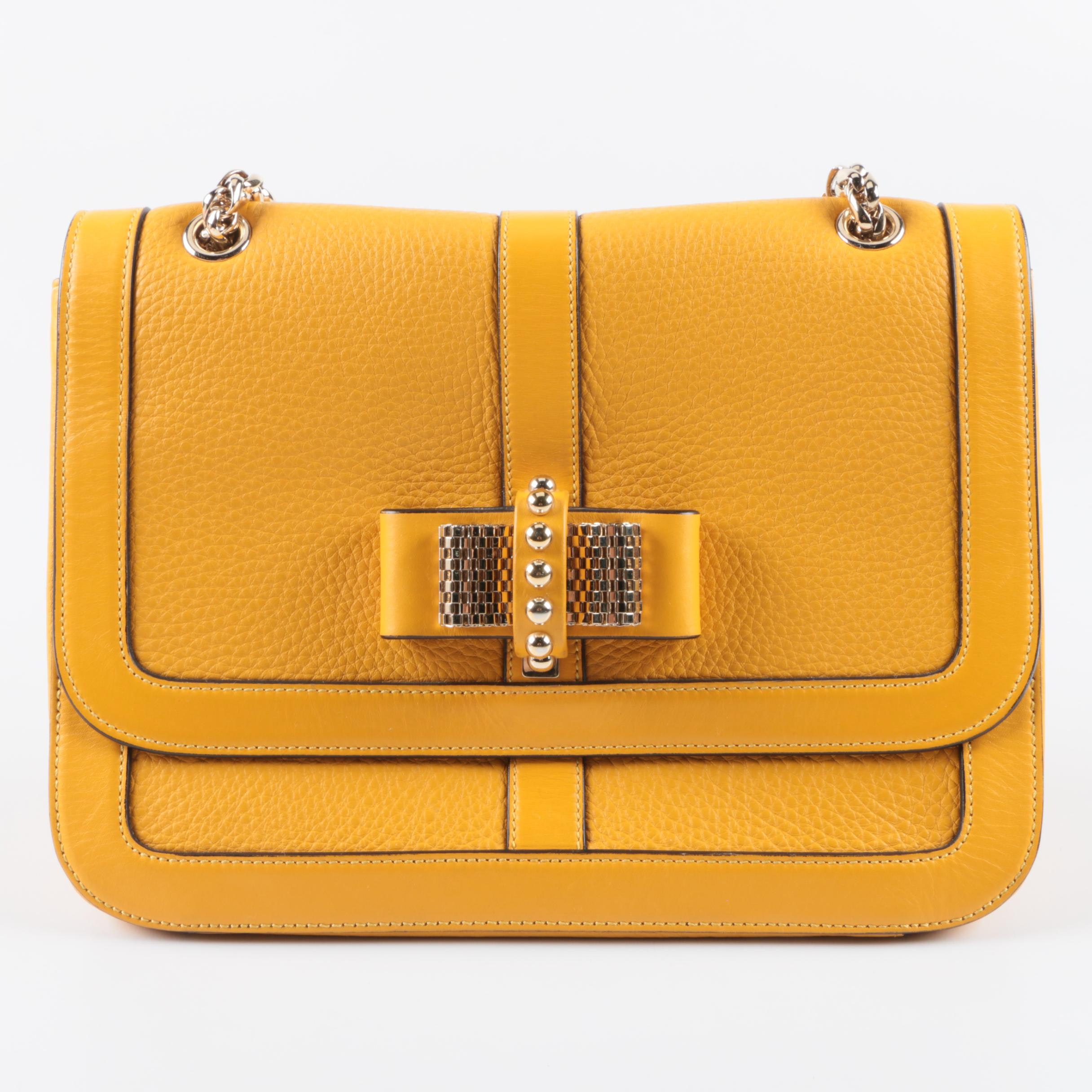 Christian Louboutin Yellow Leather Handbag