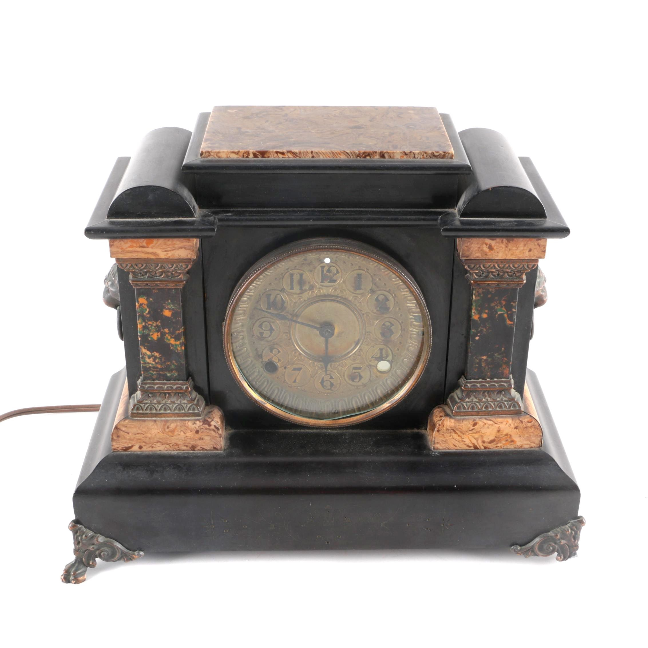 1894 Seth Thomas Adamantine Clock Case with Electric Clockworks