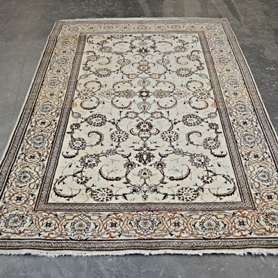 Hand-Knotted Persian Design Wool Area Rug