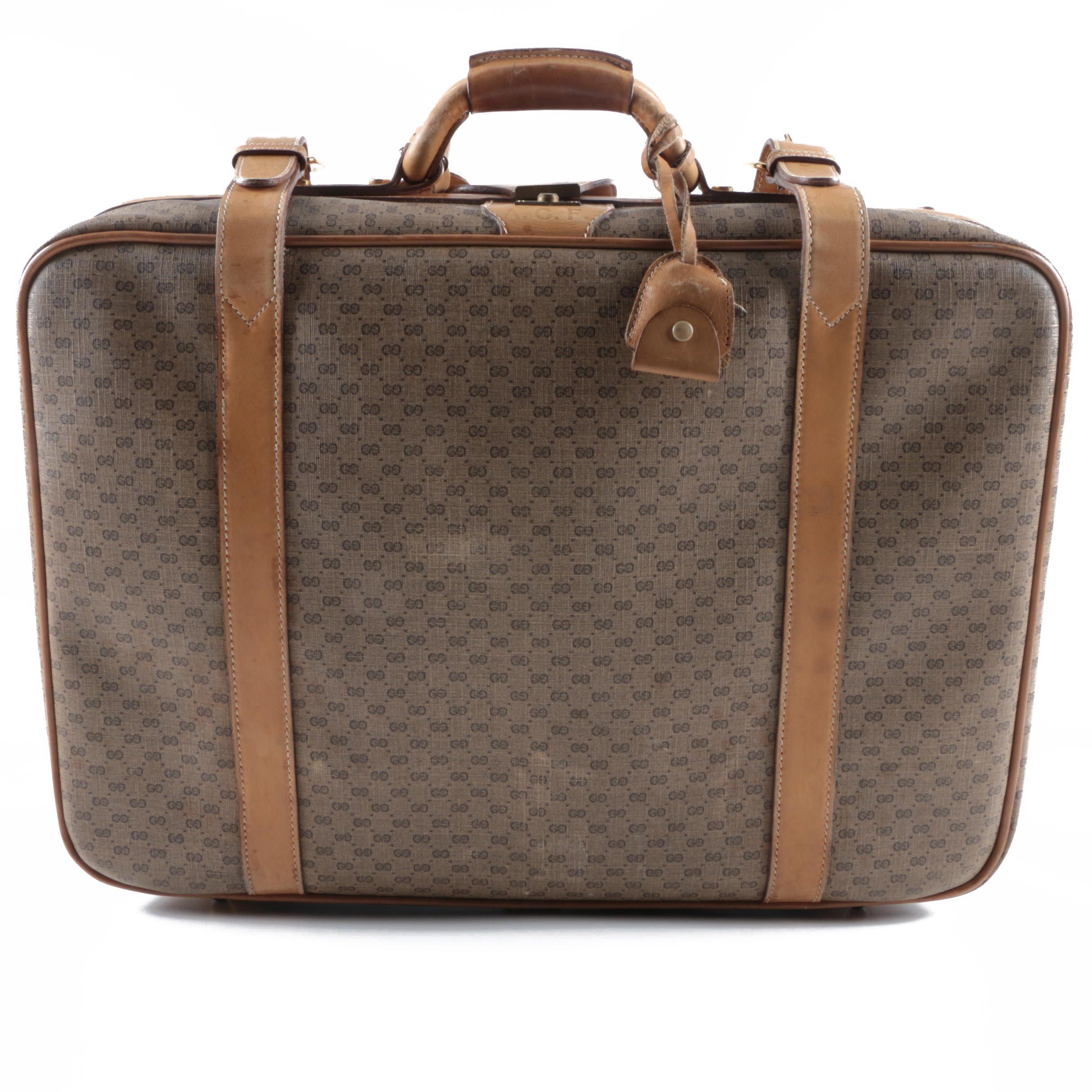Vintage Gucci Monogram Canvas Suitcase