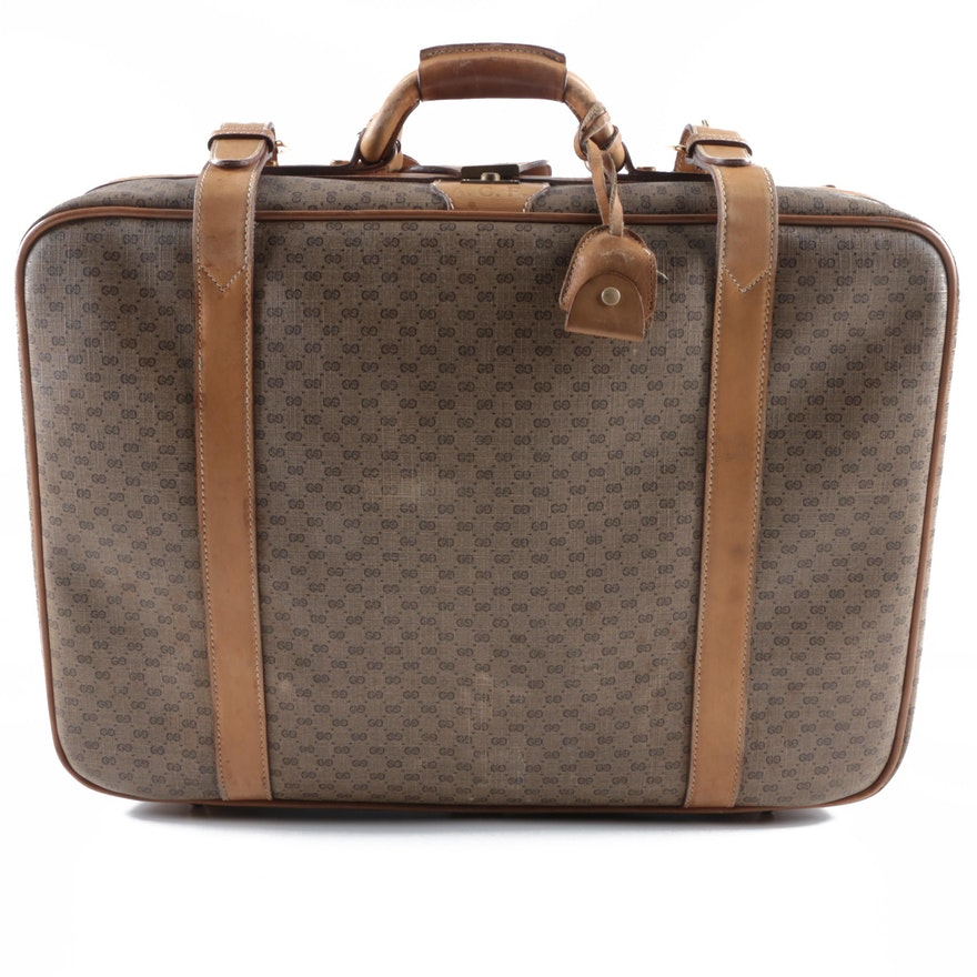 16b814327409 Vintage Gucci Monogram Canvas Suitcase : EBTH