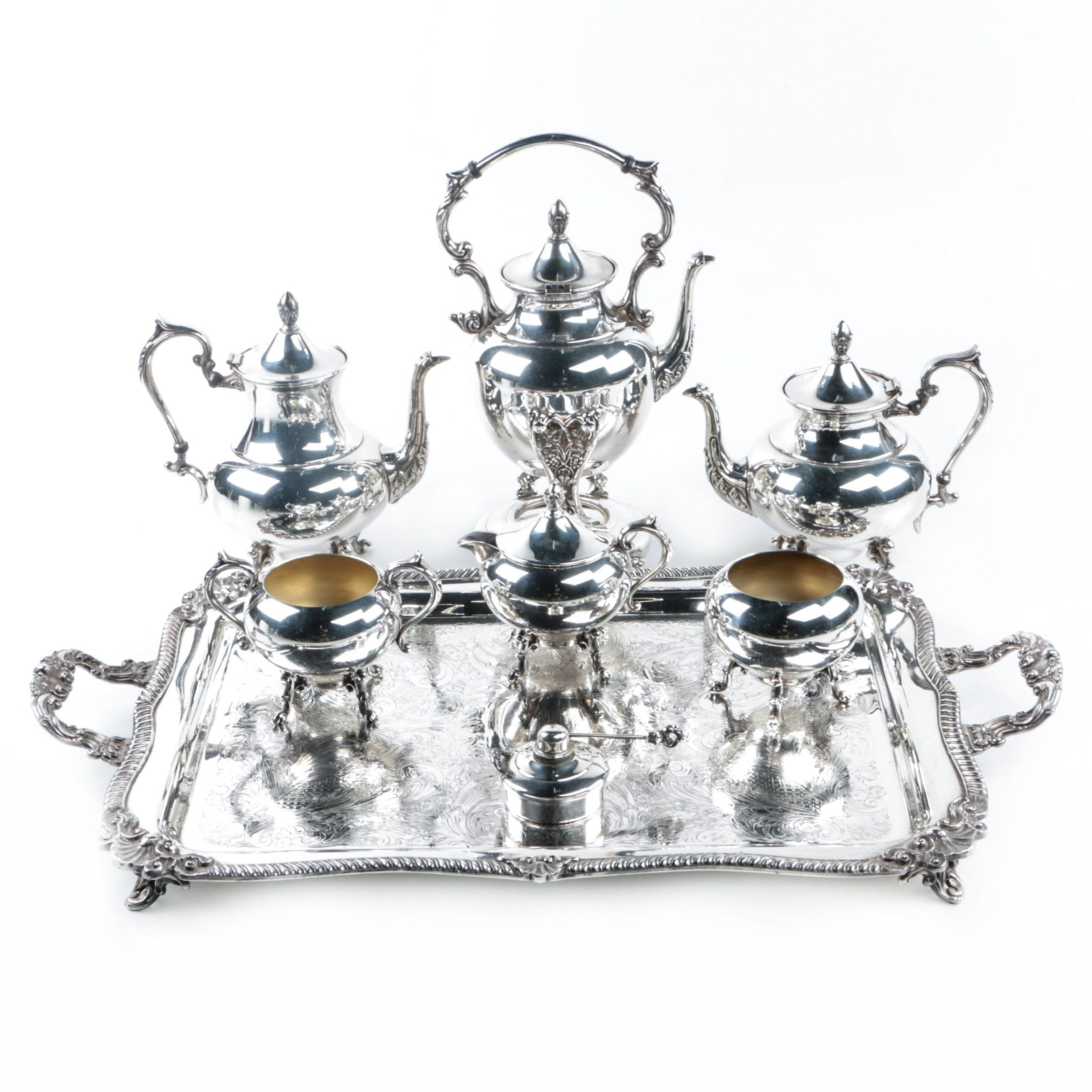 Vintage Silver Plate Tea Service Set