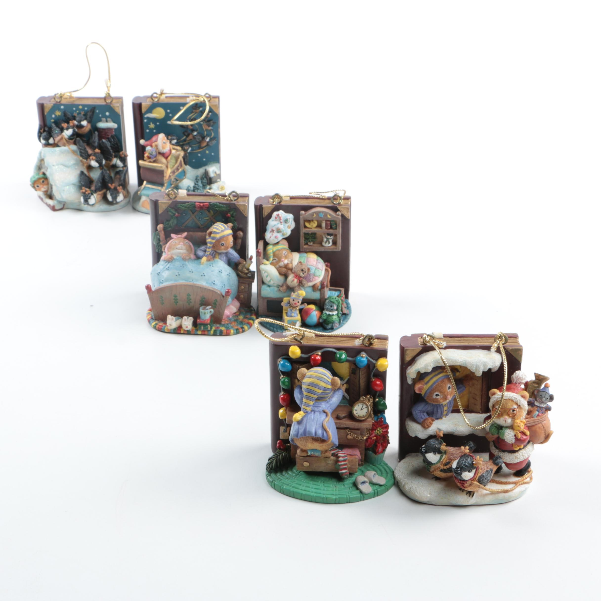 "Set of Bradford Exchange ""Night Before Christmas"" Ornaments"