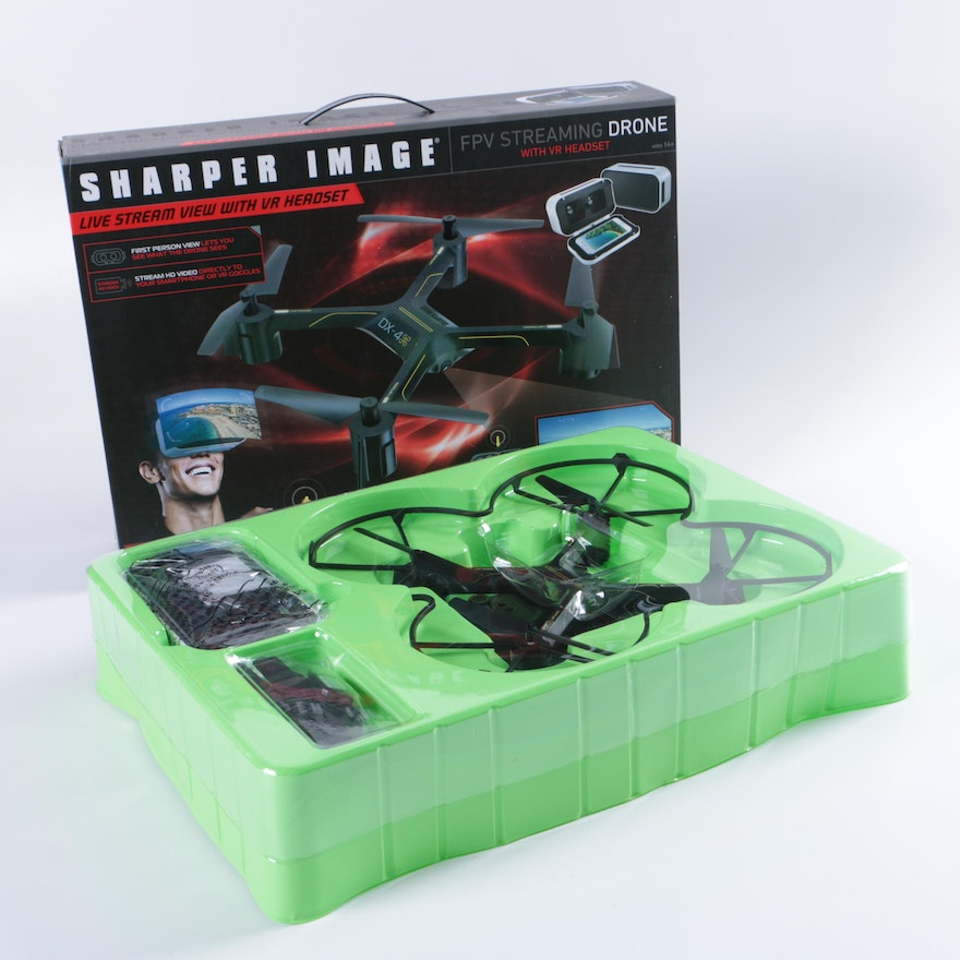 Sharper Image Dx 4 Drone With Vr Headset Ebth