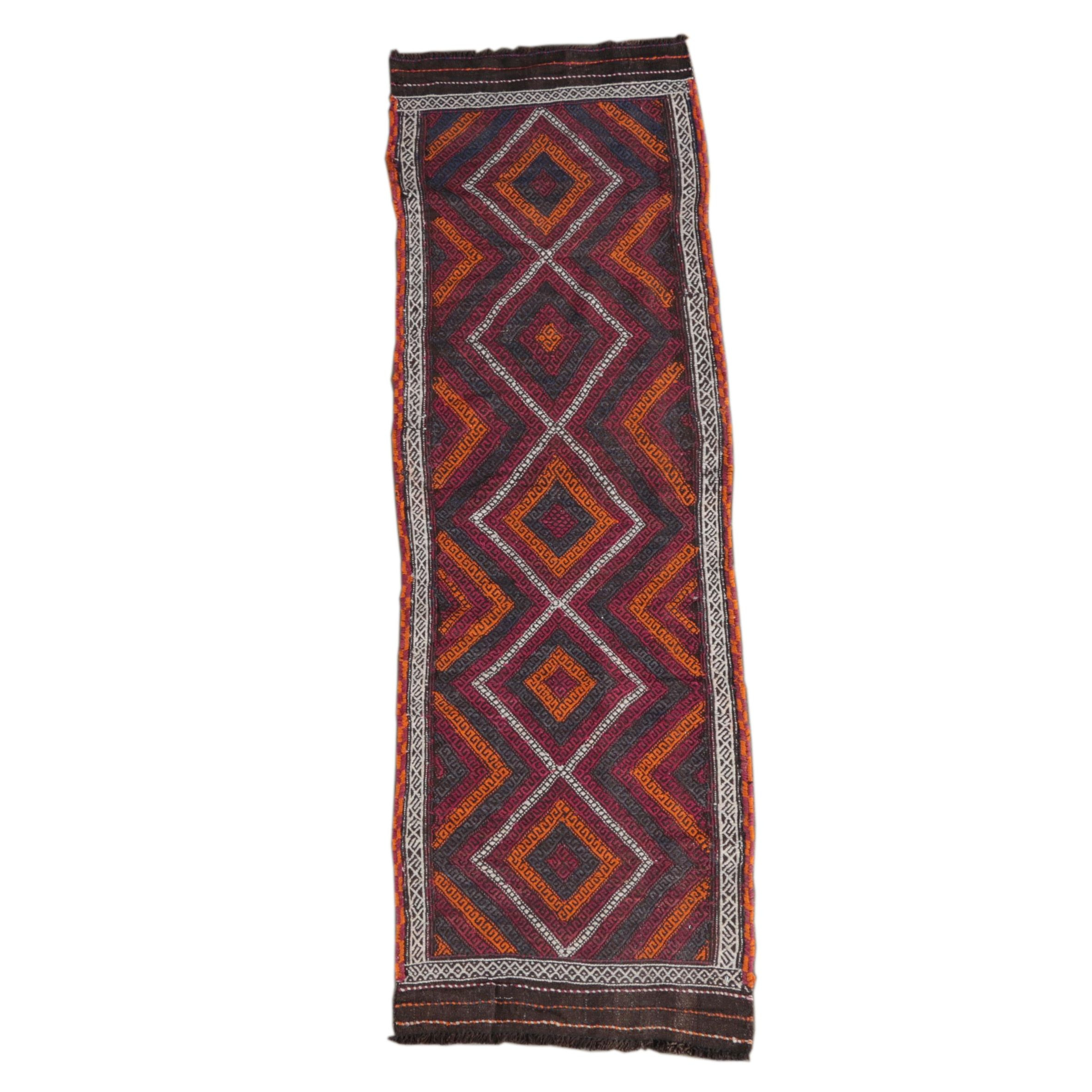 Handwoven Embroidered Baluch Carpet Runner