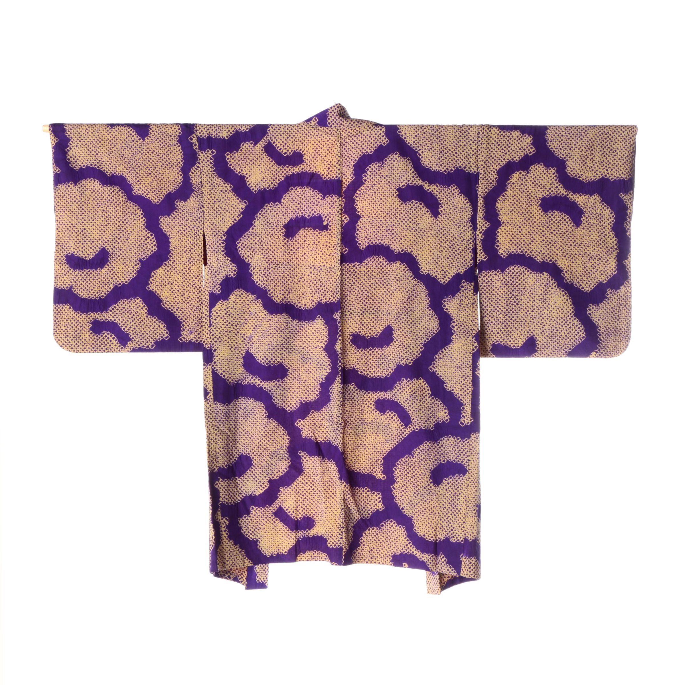 Circa 1930s Vintage Japanese Handwoven Silk Haori Jacket